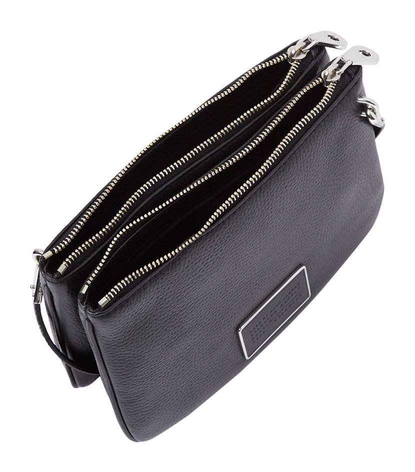 60f01e220024 Marc By Marc Jacobs Ligero Double Percy Cross Body Bag in Black - Lyst