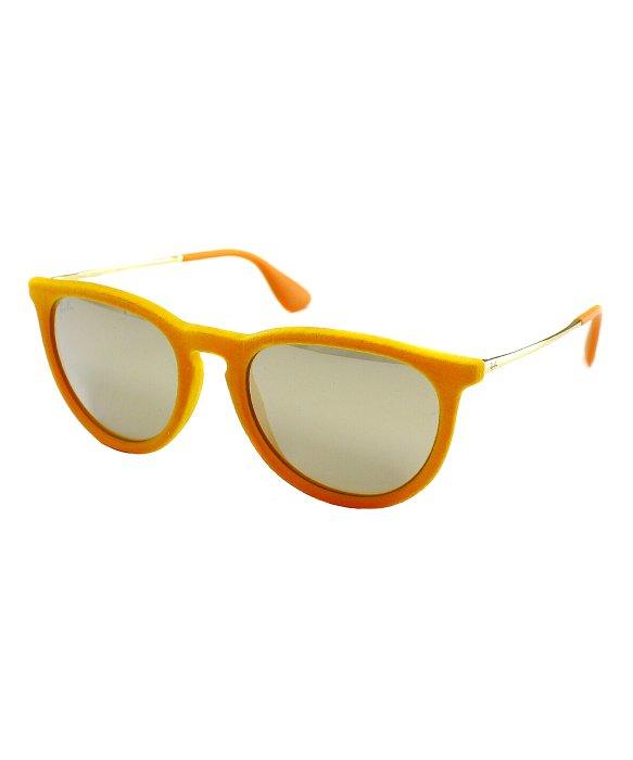 ray ban erika gold  Ray-ban Ray Ban Rb4171 Erika 60835A Velvet Yellow Sunglasses Brown ...