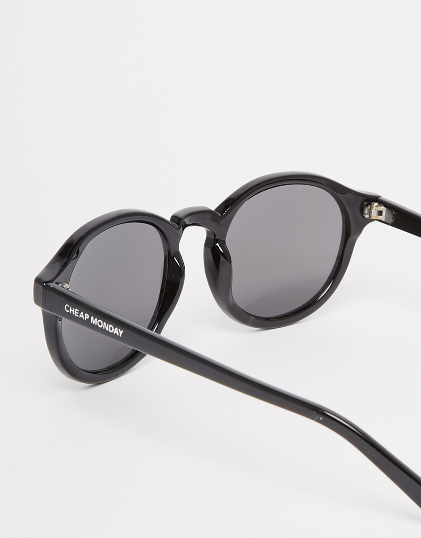 3a28904281df Cheap Monday Circle Sunglasses in Black - Lyst