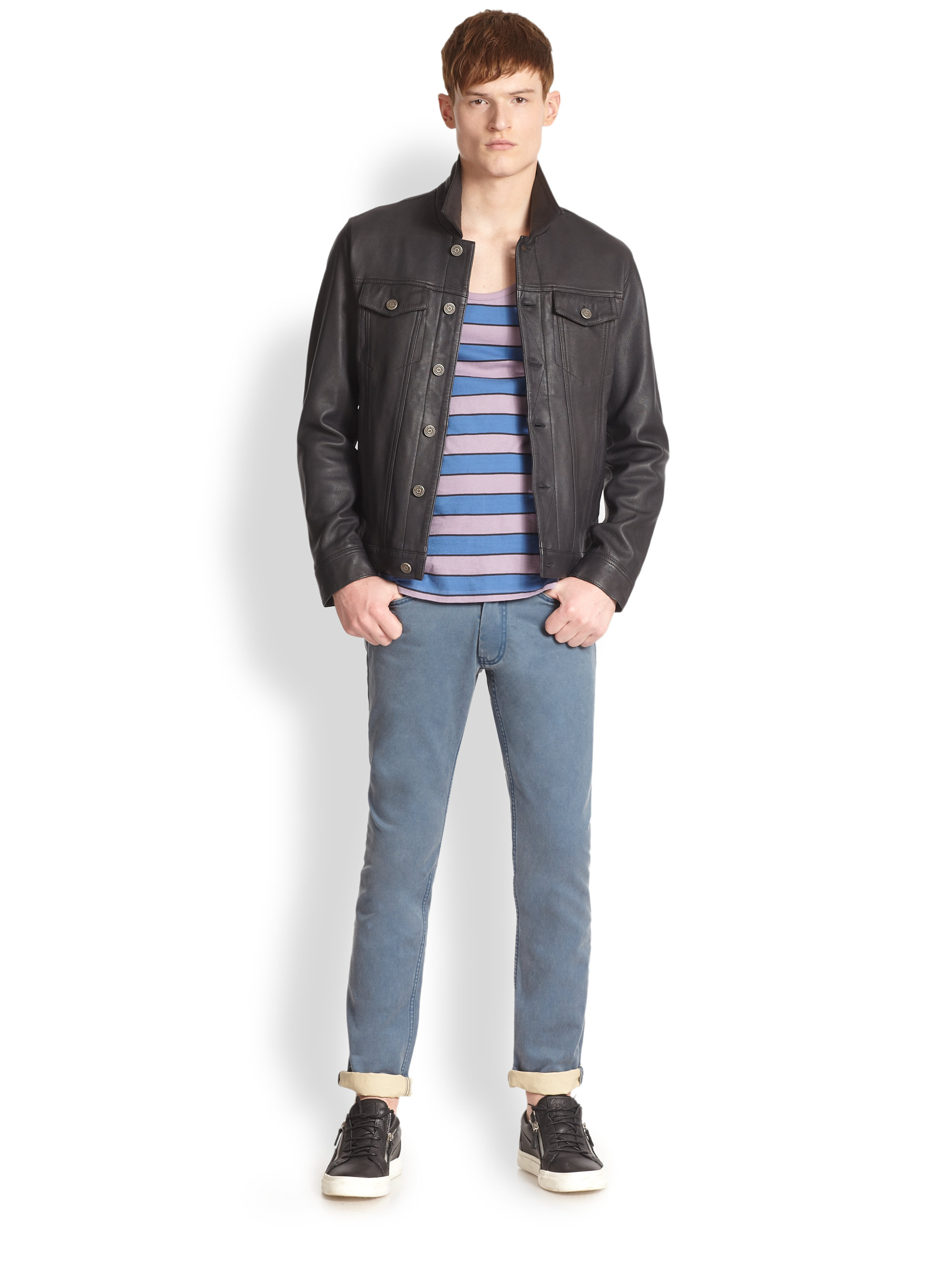 Marc jacobs mens leather jacket