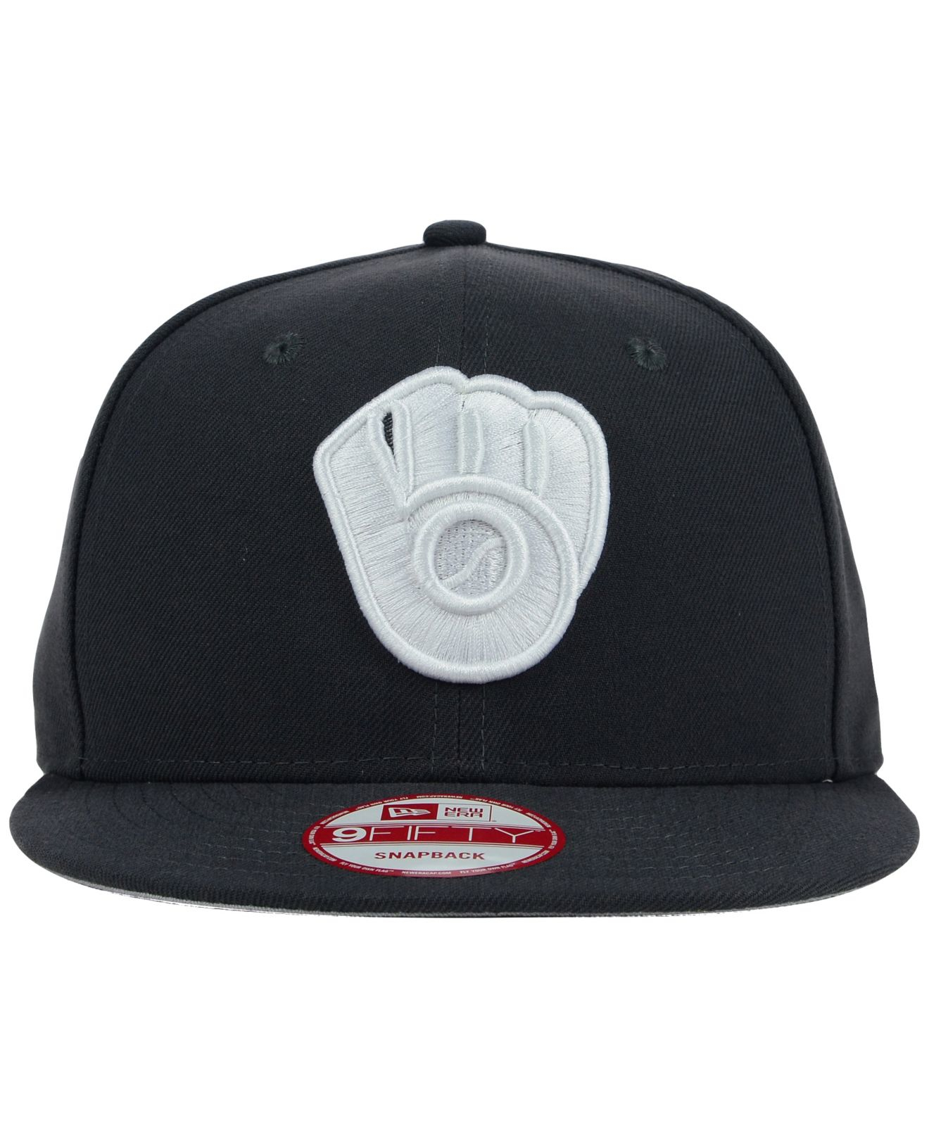 3c2383514f466 ... buy lyst ktz milwaukee brewers c dub 9fifty snapback cap in black for  men efff8 e6b1a