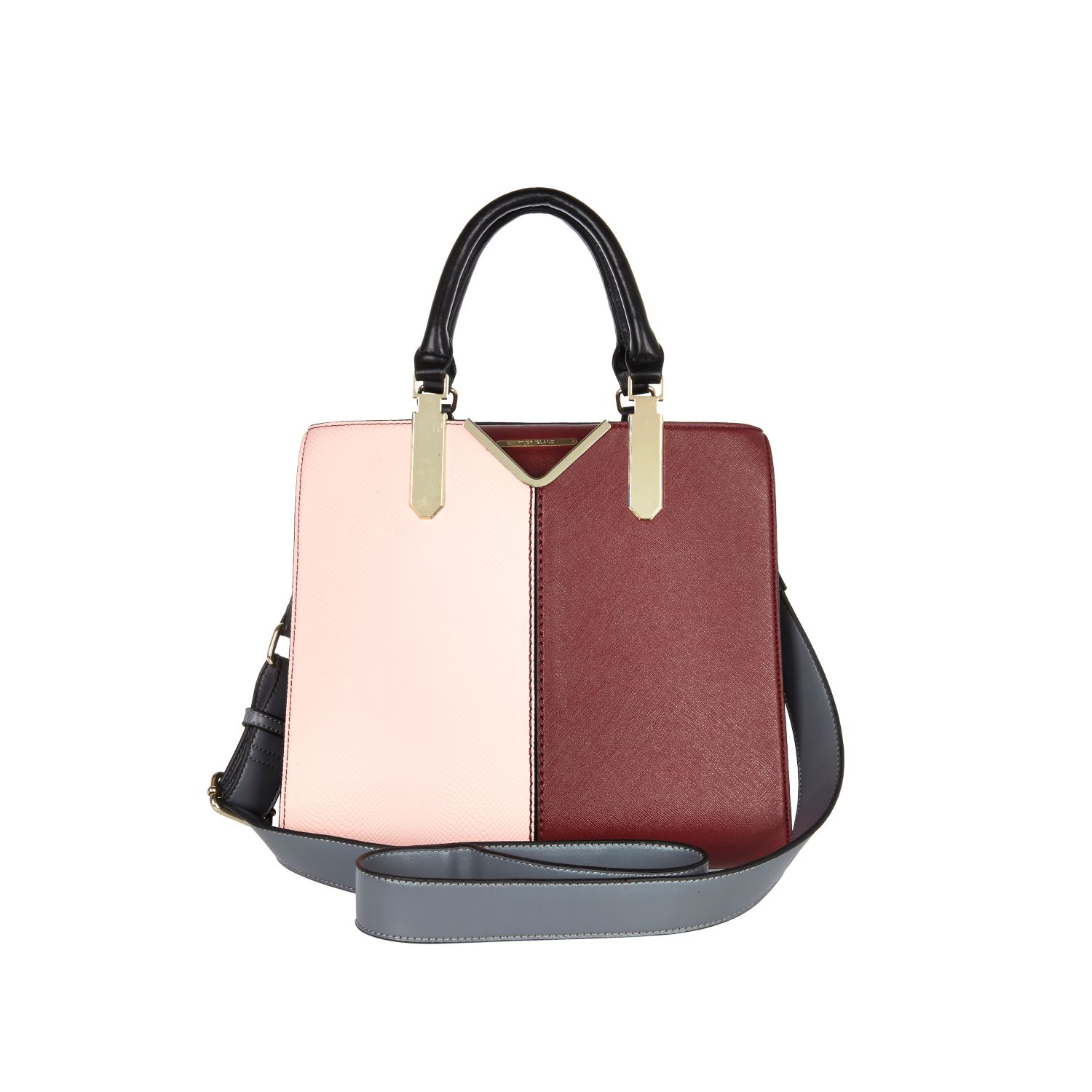 River Island Light Pink Colour Block Tote Bag in Pink - Lyst fefcebec5d