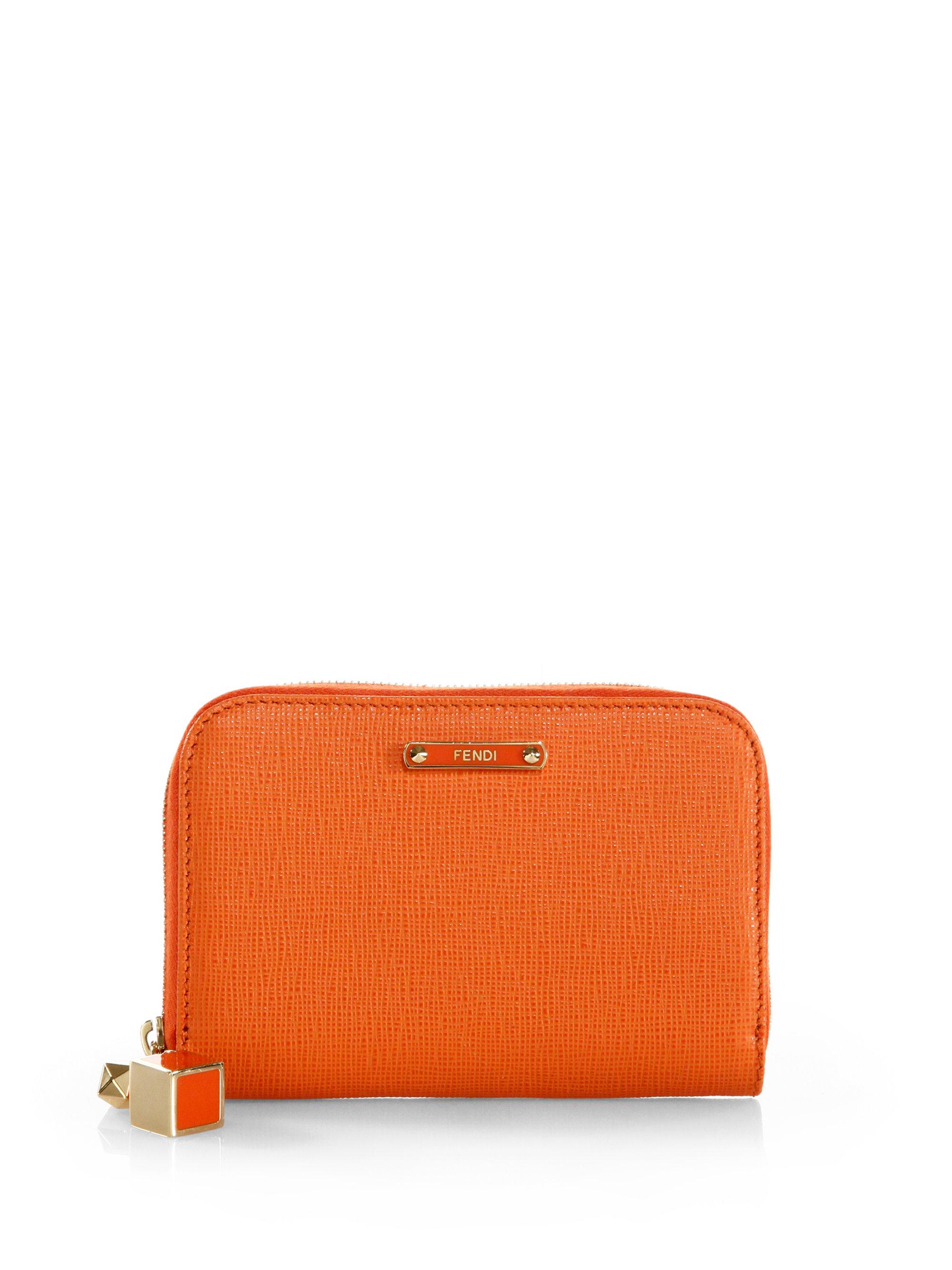 Fendi Orange Card Holder