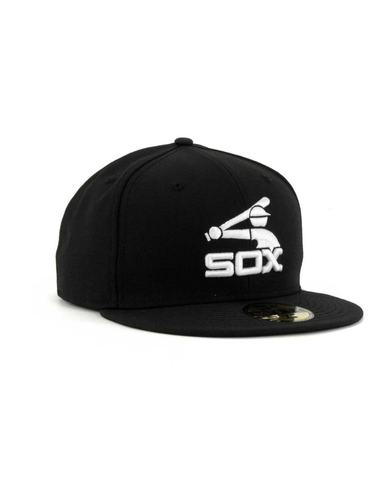 reputable site c1de7 ed077 ... where can i buy lyst ktz chicago white sox mlb b dub 59fifty cap in  black
