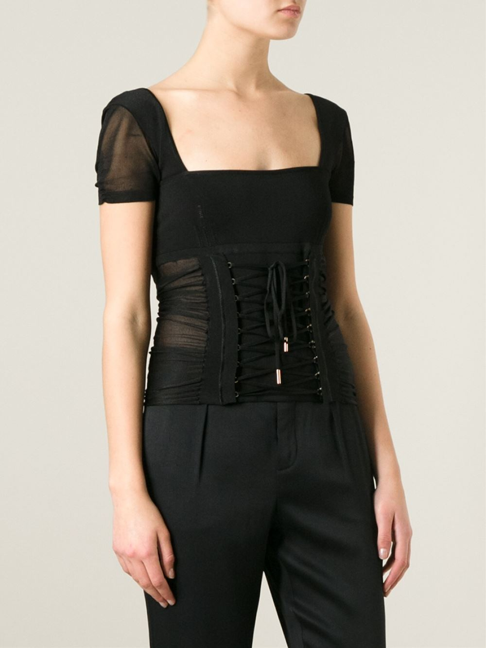 Dolce & gabbana Corset Top in Black
