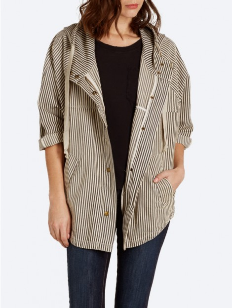 Current/elliott The Cadet Poncho in Natural