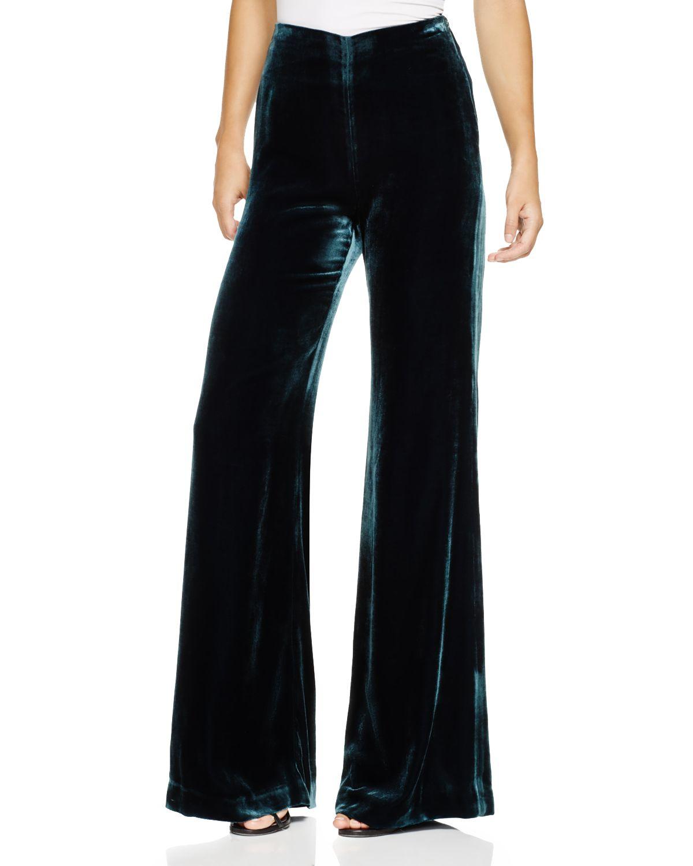 Clover Canyon Silk Velvet Pants In Blue Lyst