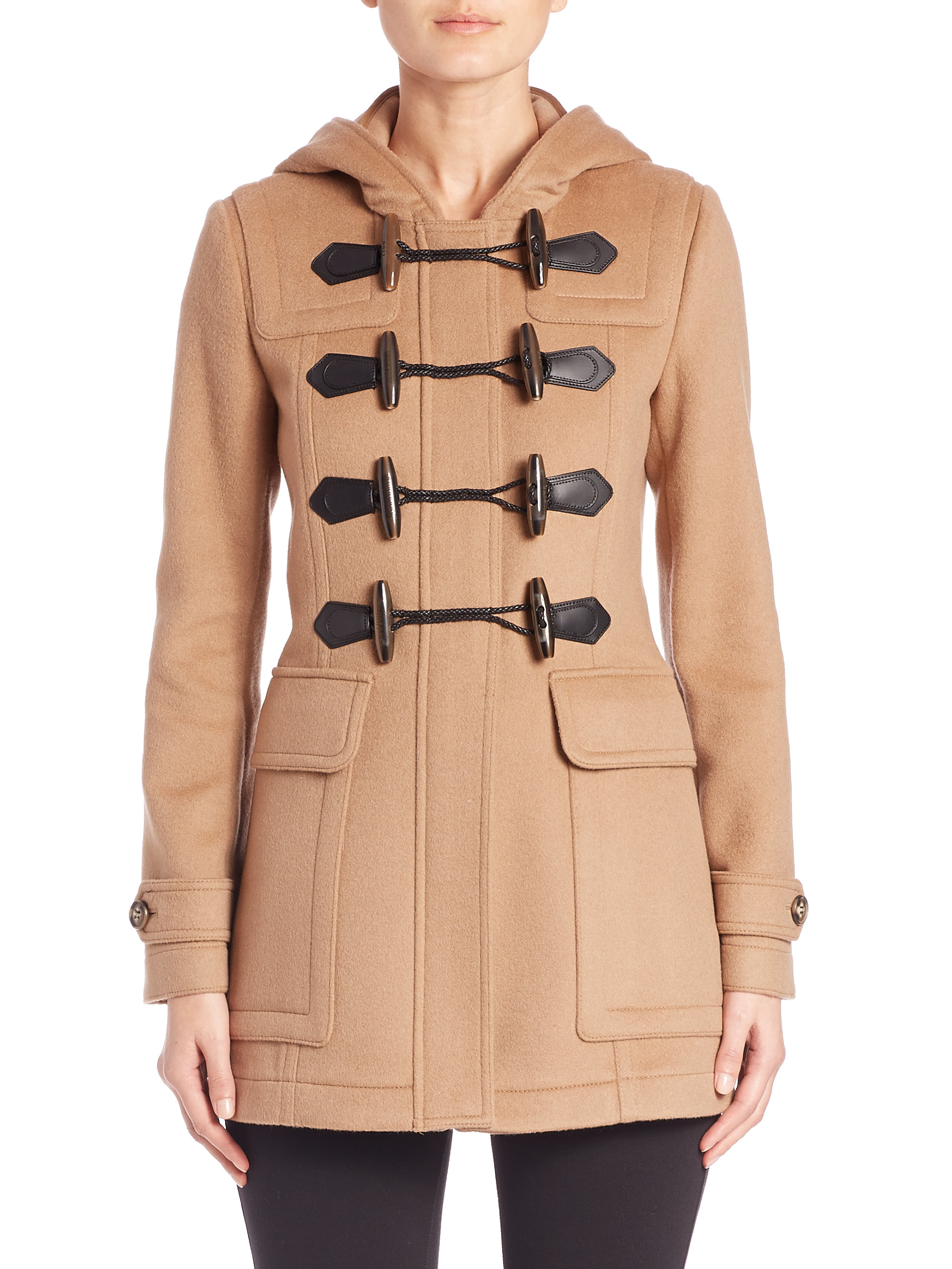 Burberry Blackwell Duffle Coat in Natural | Lyst