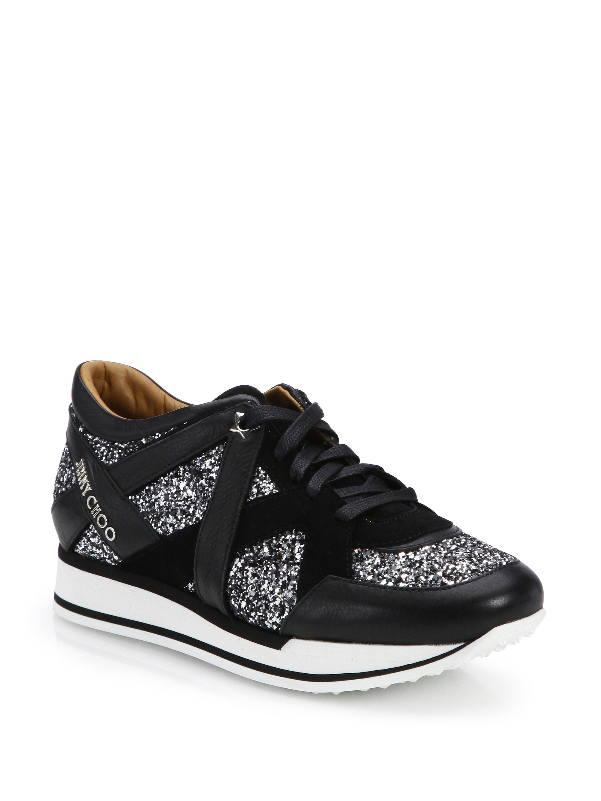 Miami leather and suede sneakers Jimmy Choo London jylcv