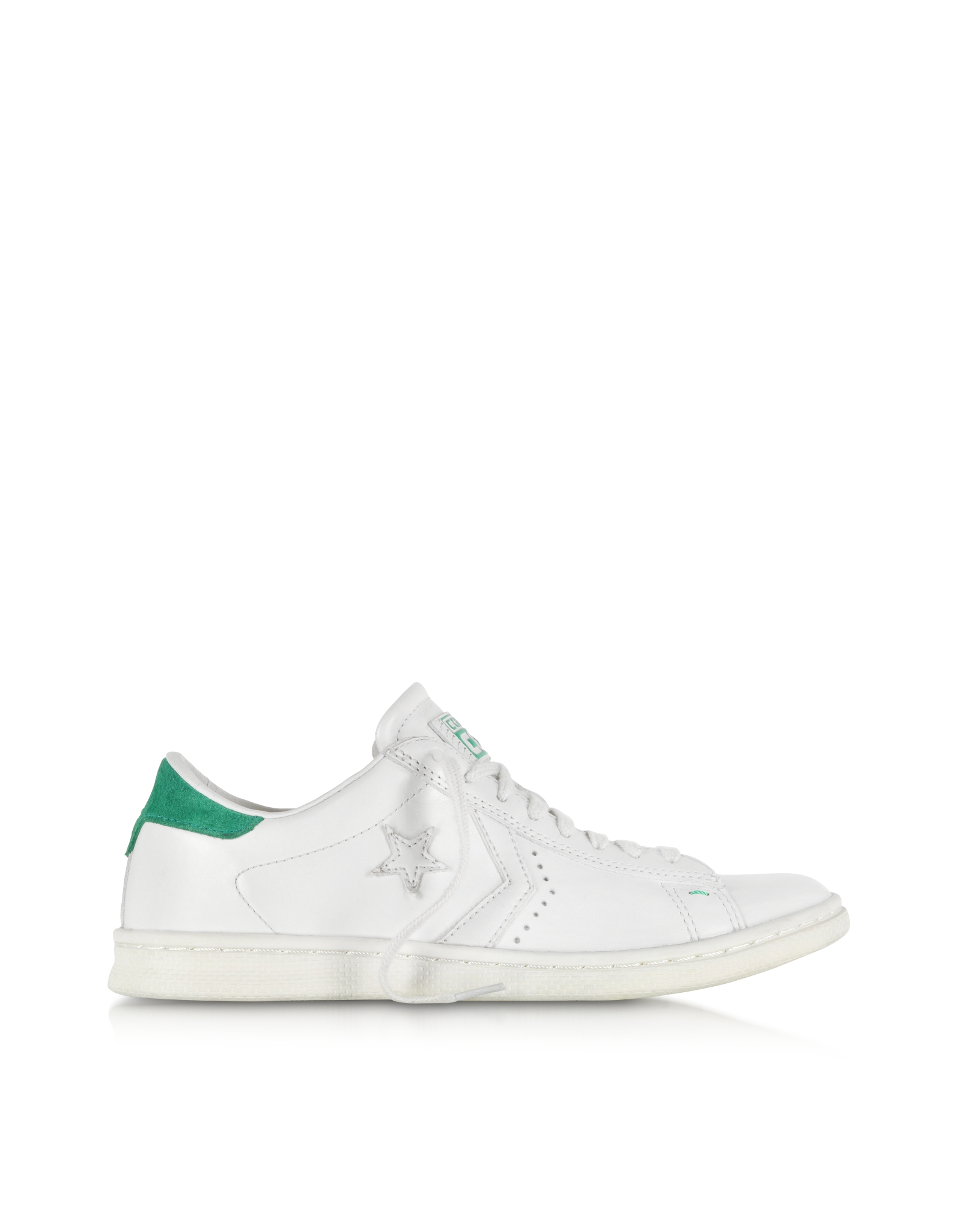 a3ecb503a887dc Converse Cons Pro Leather Lp Ox White Dust And Green Sneaker in ...