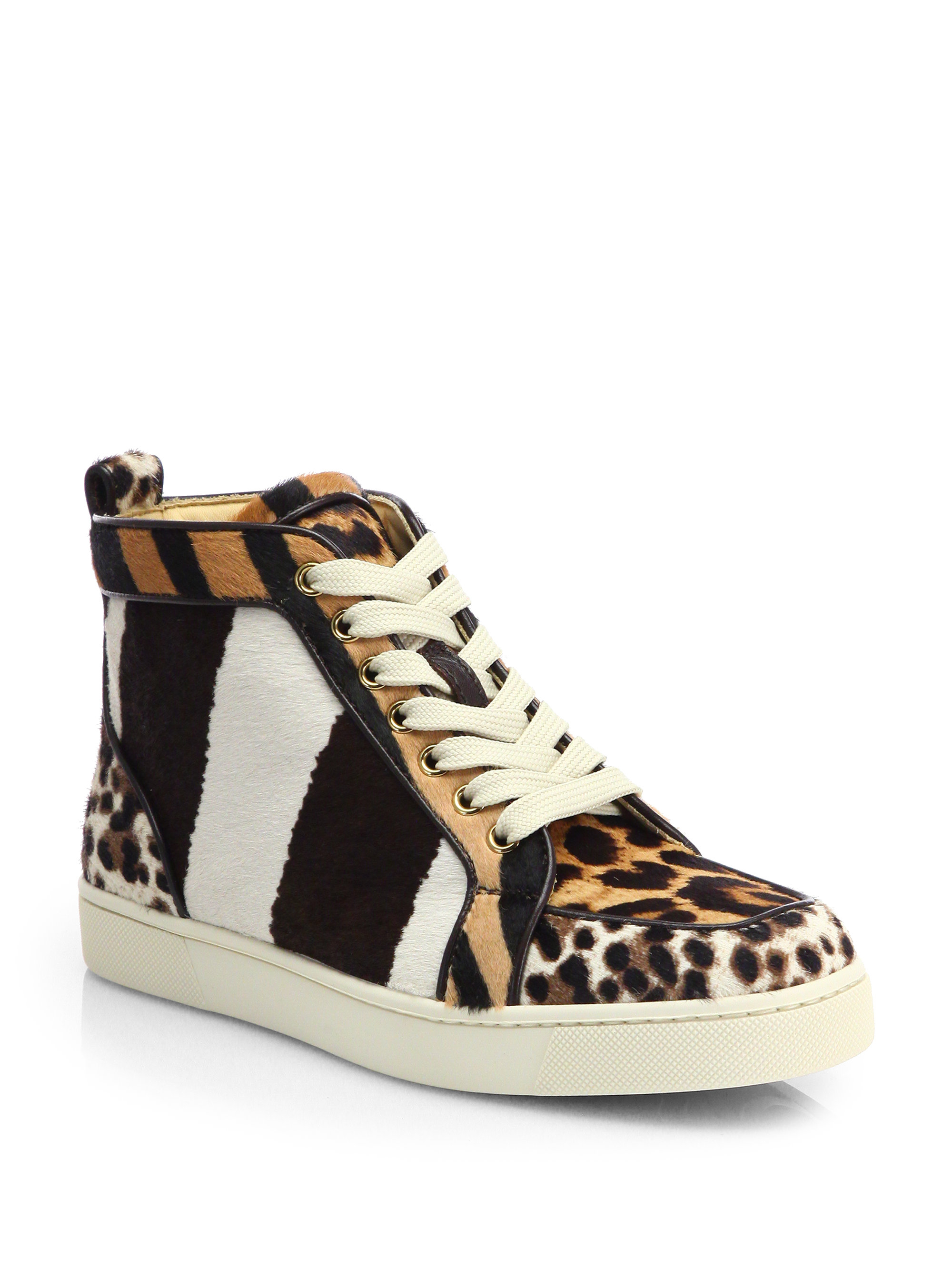 1a3353f44292 Lyst - Christian Louboutin Rantus Orlato Mixed Animal-Print Calf ...