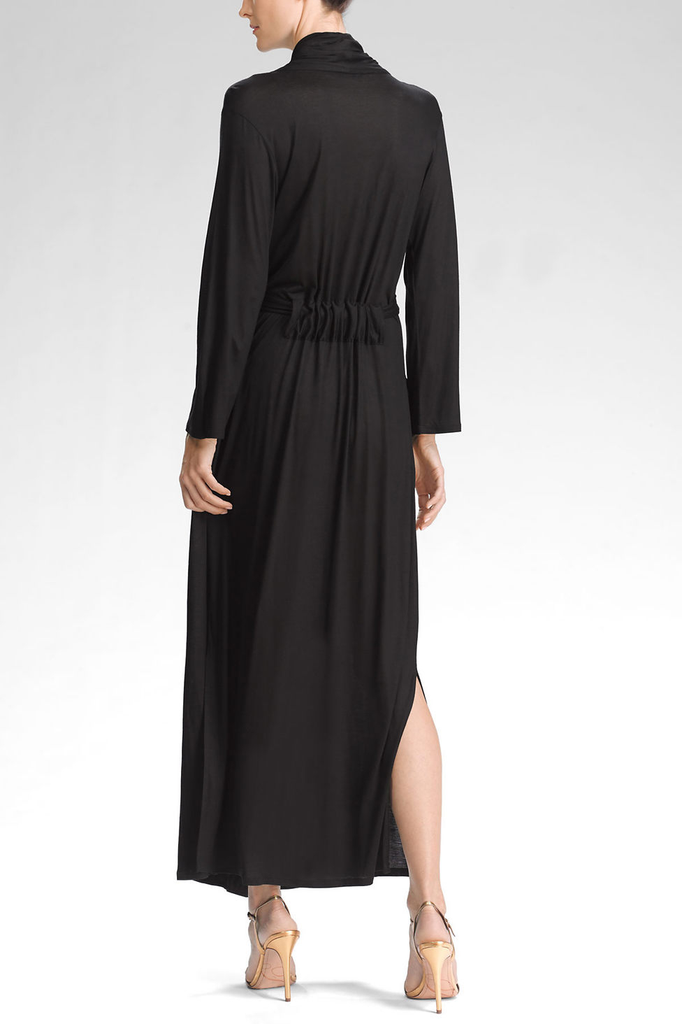 natori charlize robe in black lyst With robe charlise