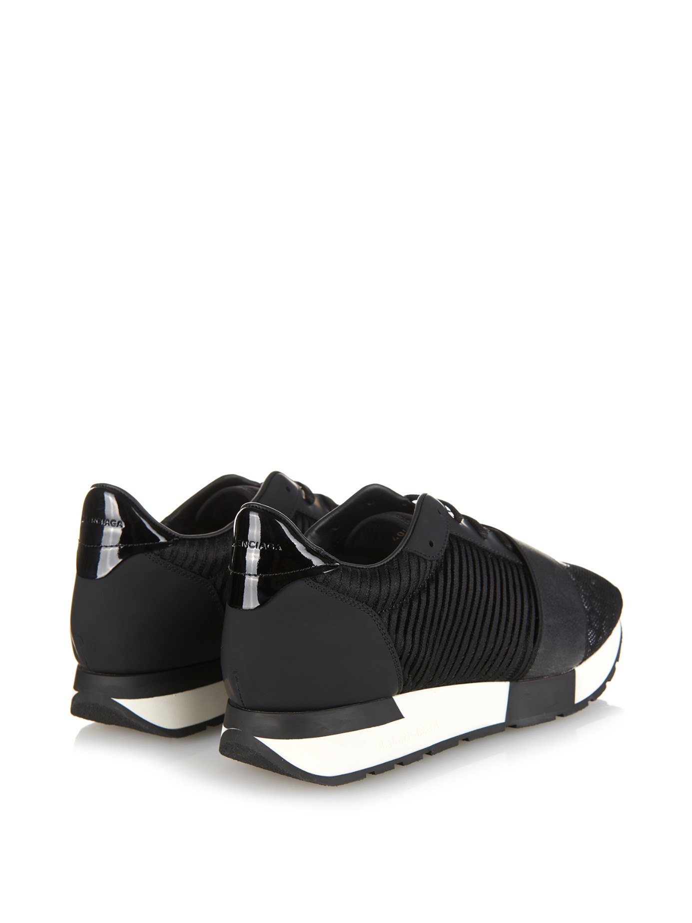 Lyst - Balenciaga Multi-Panel Low-Top Trainers in Black c10706a16