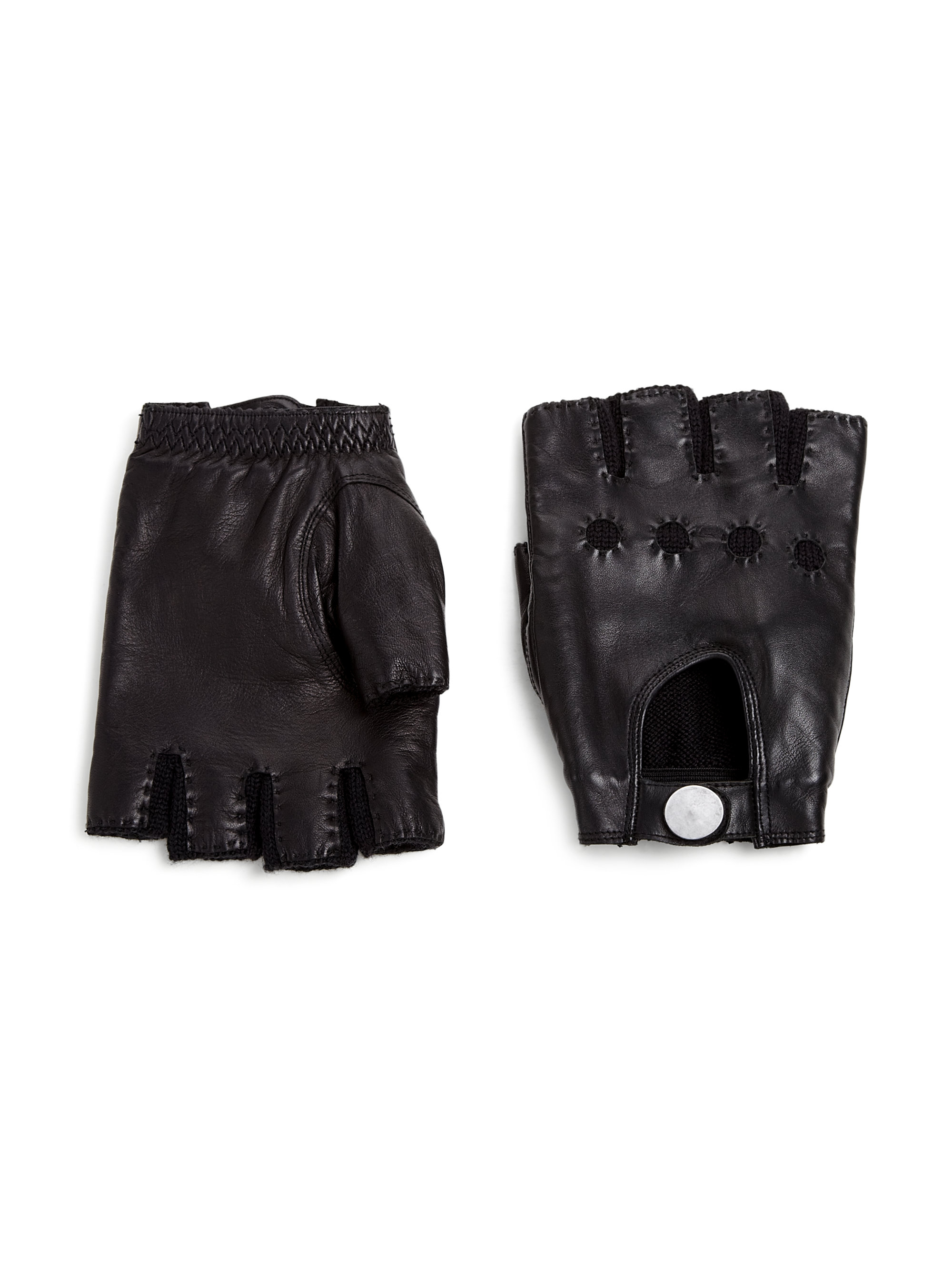 Fingerless gloves cotton - Marc By Marc Jacobs Leather Fingerless Gloves Lyst