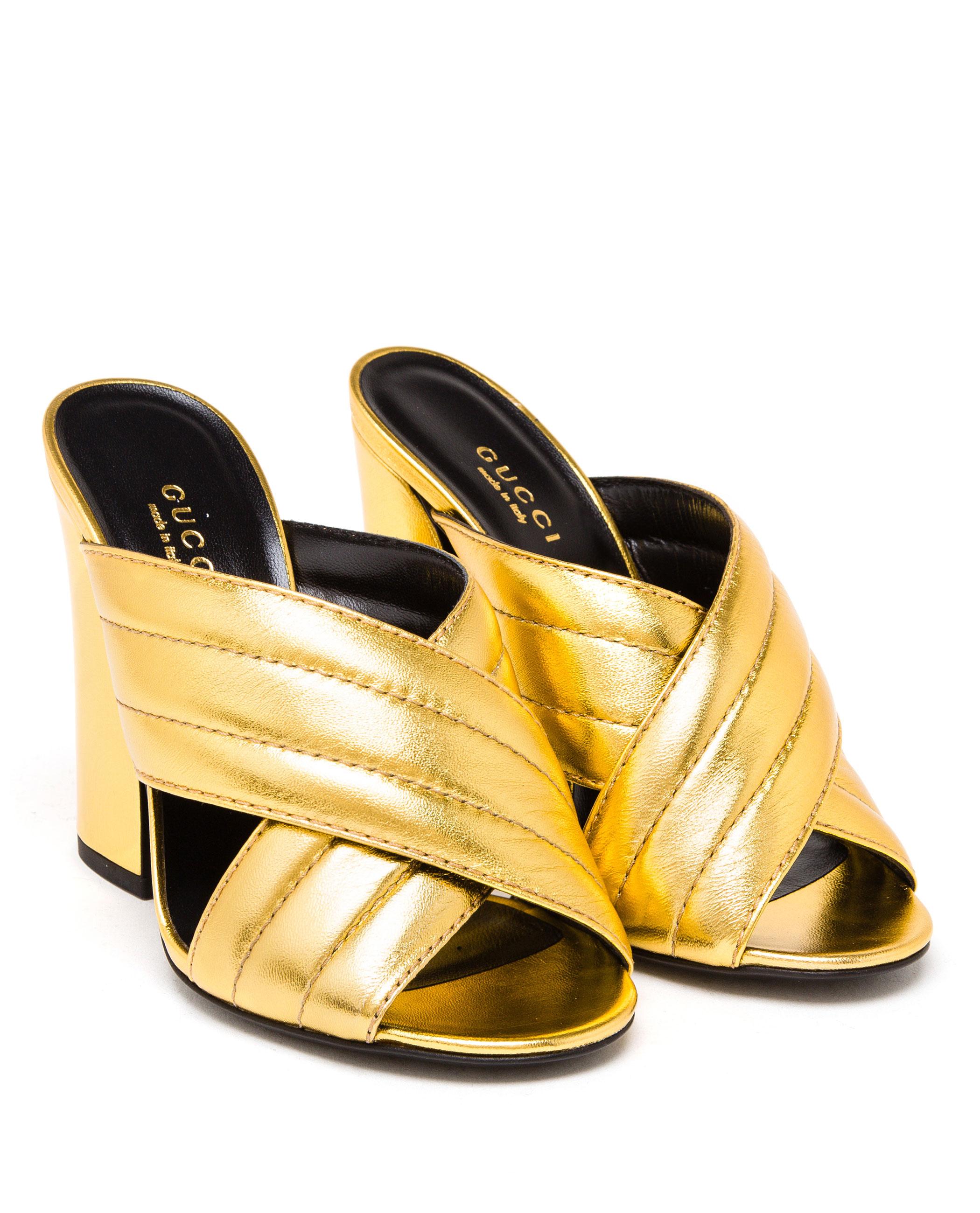 Gucci Shoes Golden Heels