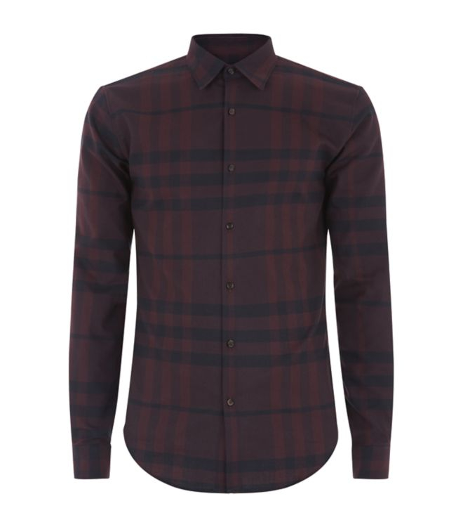 Burberry London Check Flannel Shirt In Purple For Men Lyst