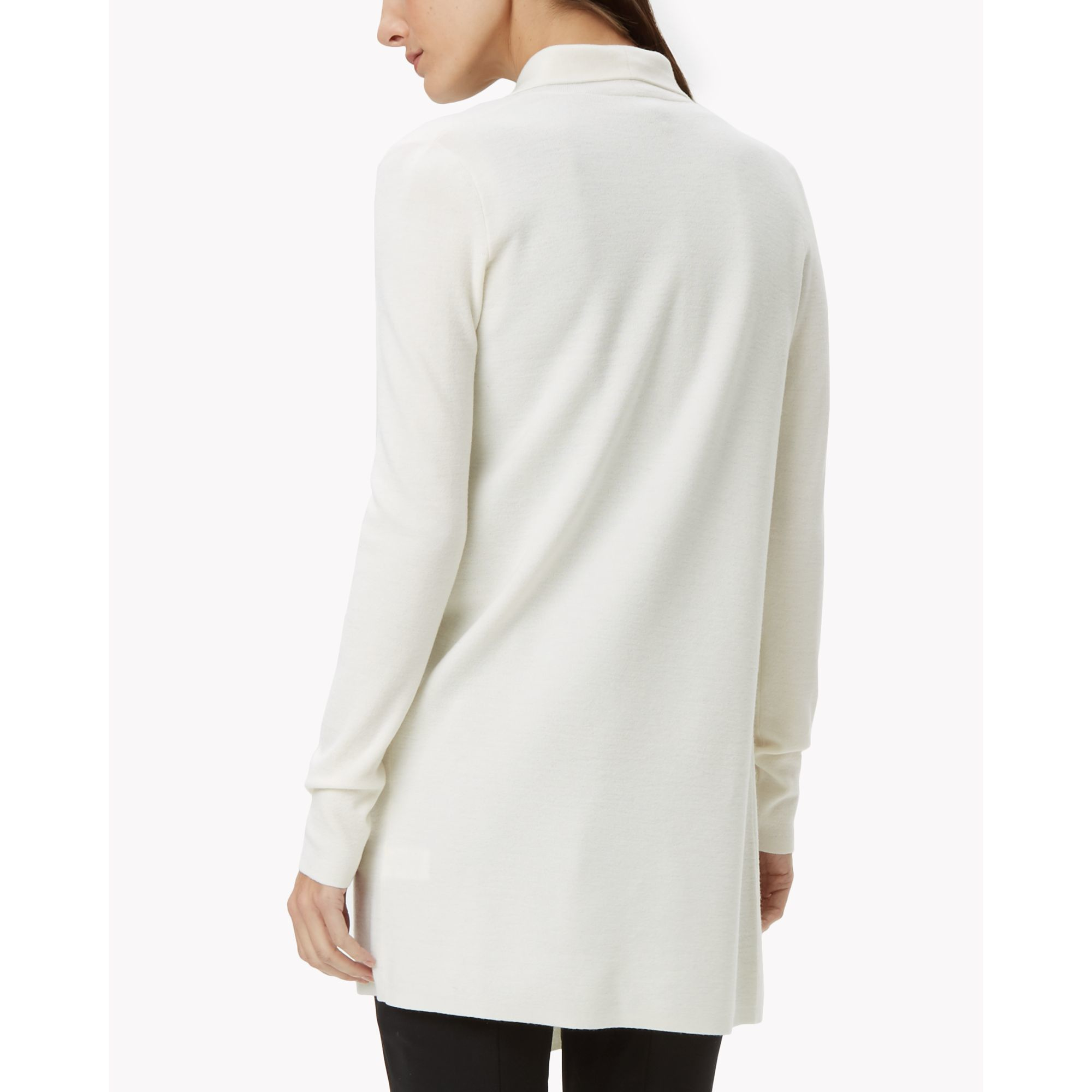 Theory Wool Knit Open Cardigan in White | Lyst