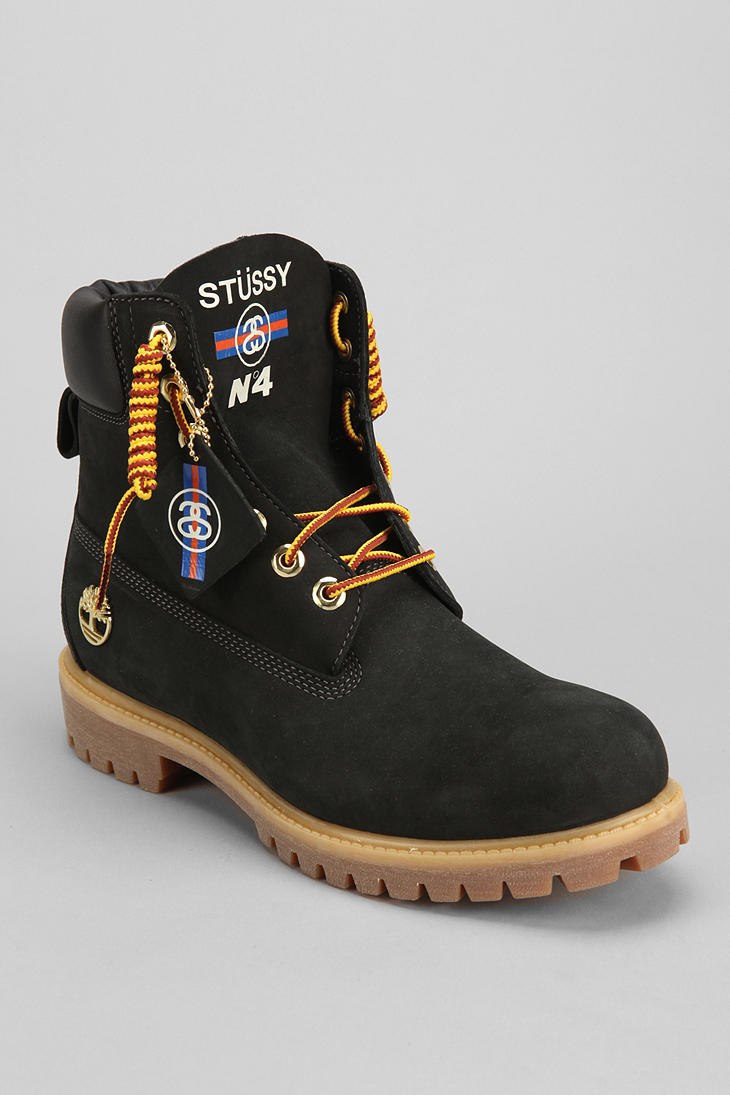 5b7e4ce14c90 Lyst - Urban Outfitters Timberland X Stussy Boot in Black for Men