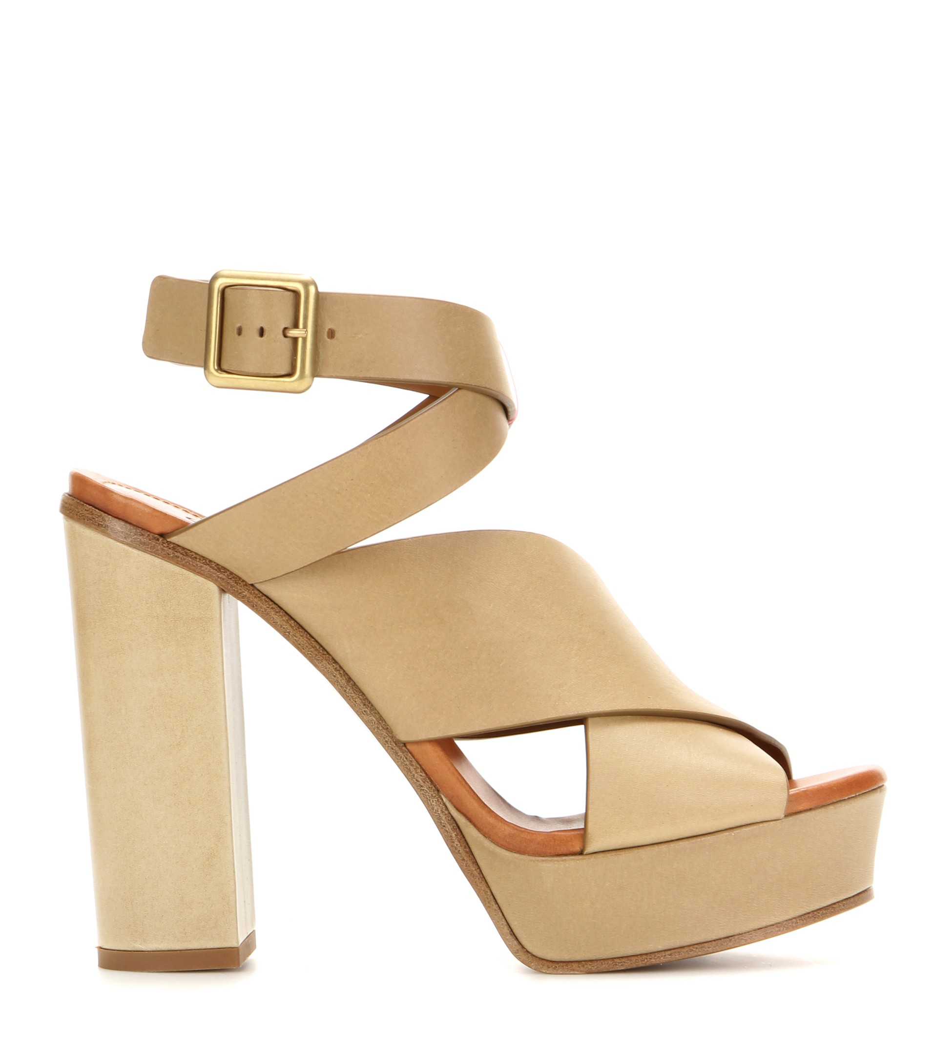 lowest price sale online clearance buy Chloé Leather Platform Pumps eO6I8mo