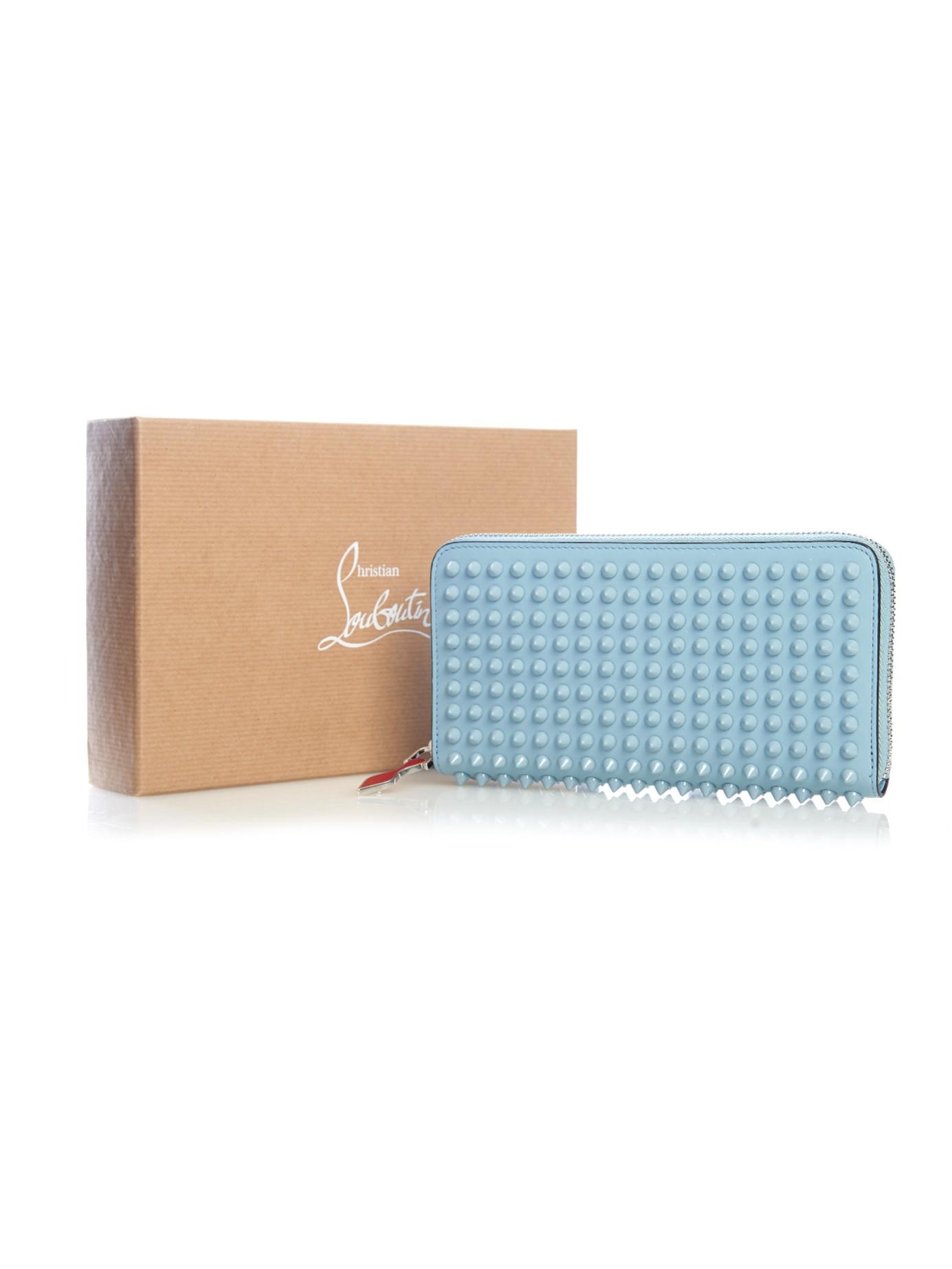 christian louboutin blue wallet