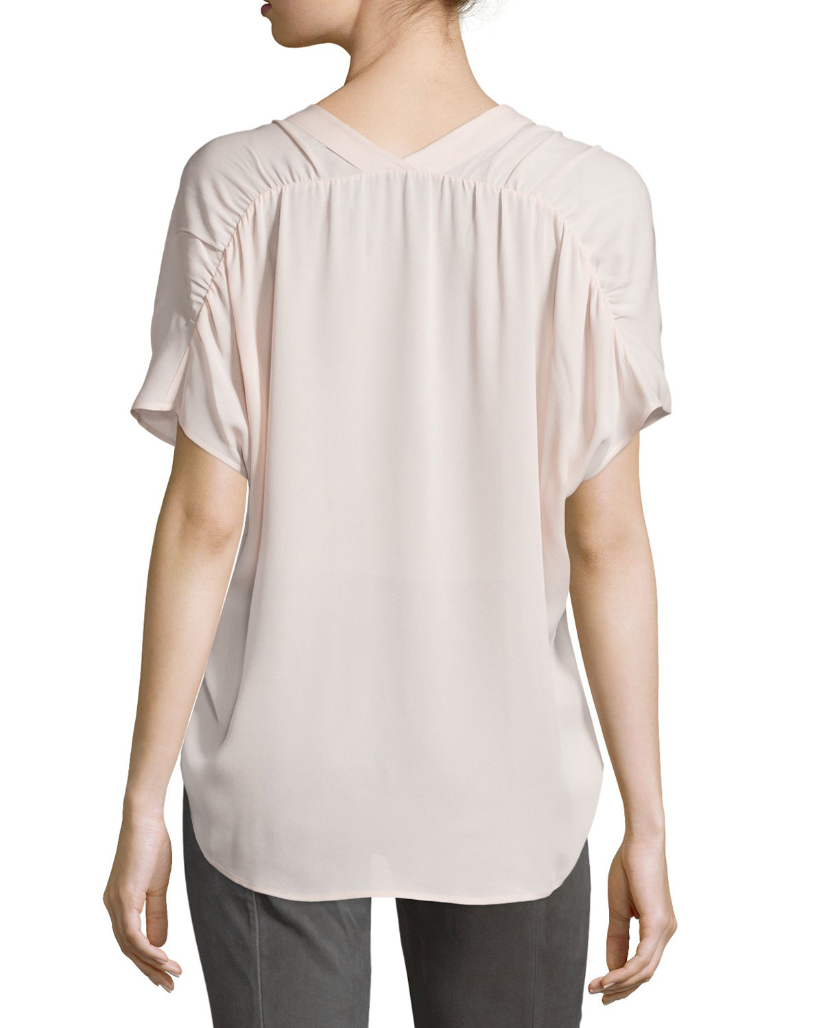 Buy Cheap Get Authentic pleated front blouse - Grey Vince Explore Sale Online Find Great dbmW2JzMHS
