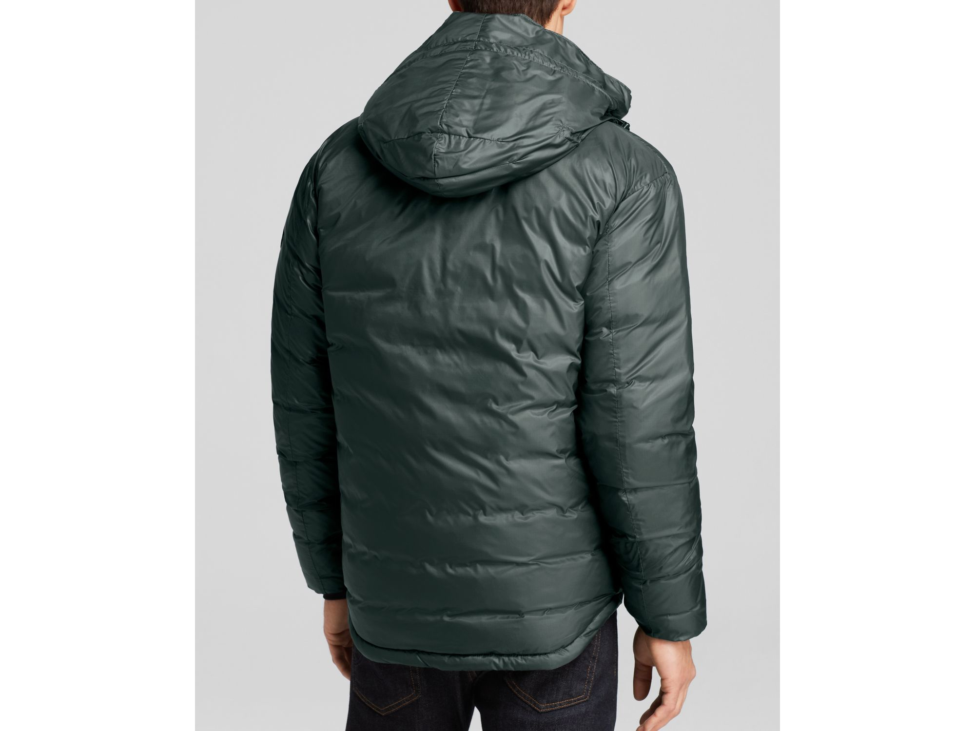 c38878036b0c ... sale lyst canada goose lodge hooded down jacket in black for men 27295  65d3d