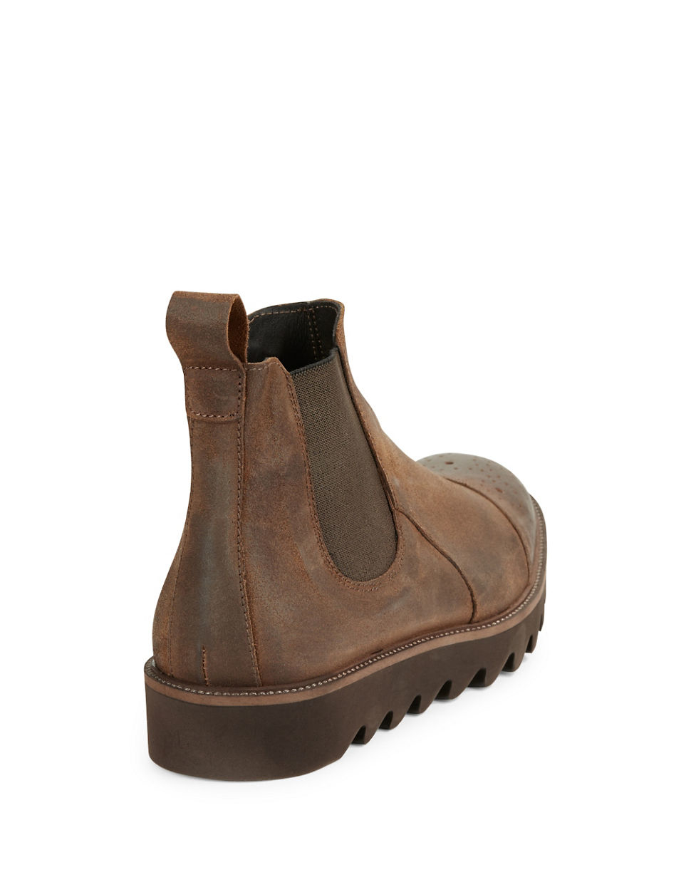 donald j pliner shale perforated leather chelsea boot in