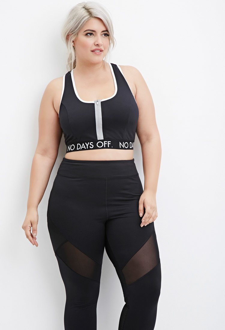 Lyst Forever 21 Plus Size No Days Off Sports Bra You Ve