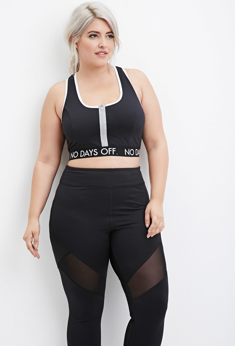 Forever 21 Plus Size No Days Off Sports Bra You've Been ...