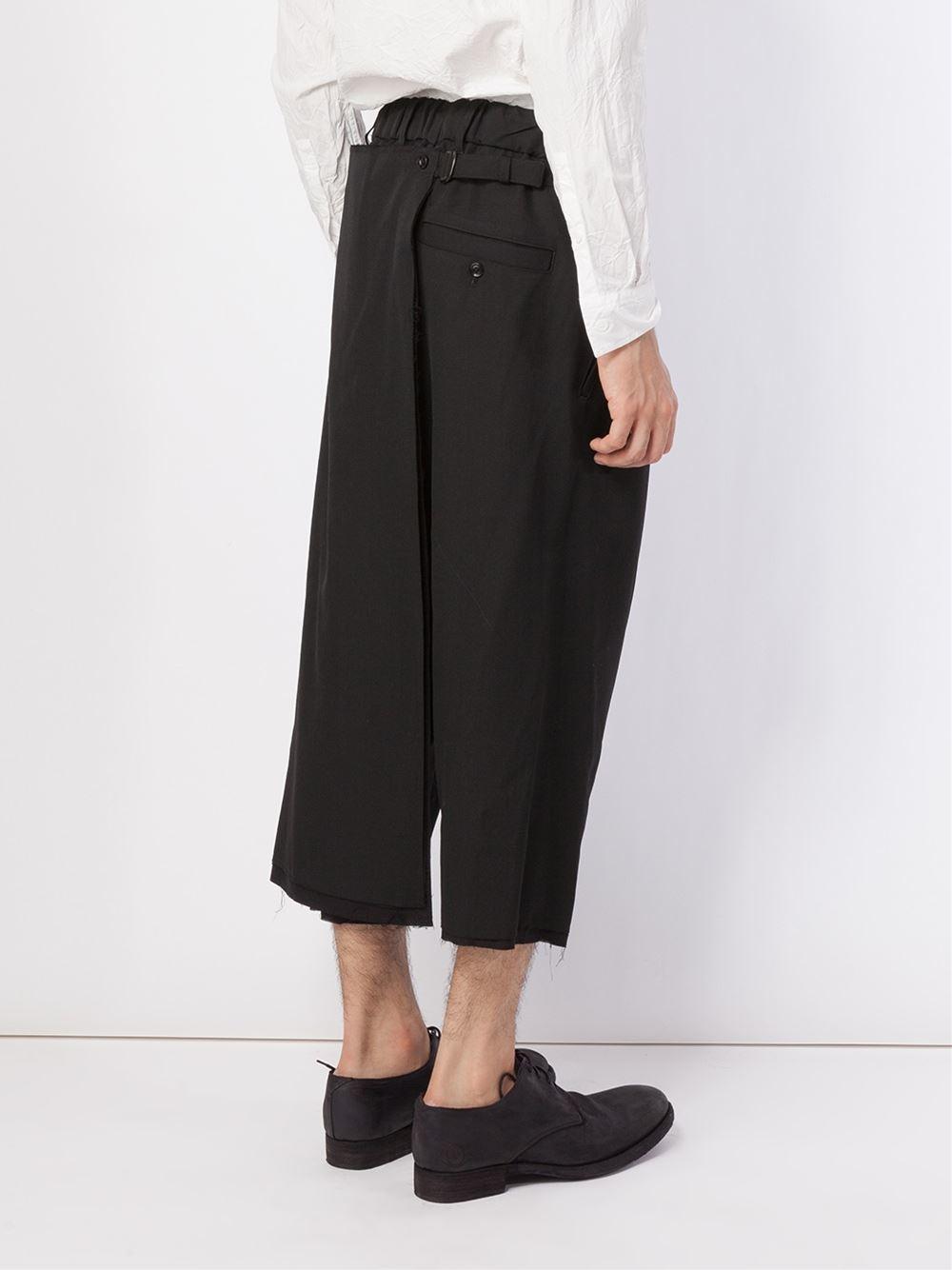 wide leg cropped pants - Black Yohji Yamamoto Enjoy Cheap Online Find Great Online afesYCJp