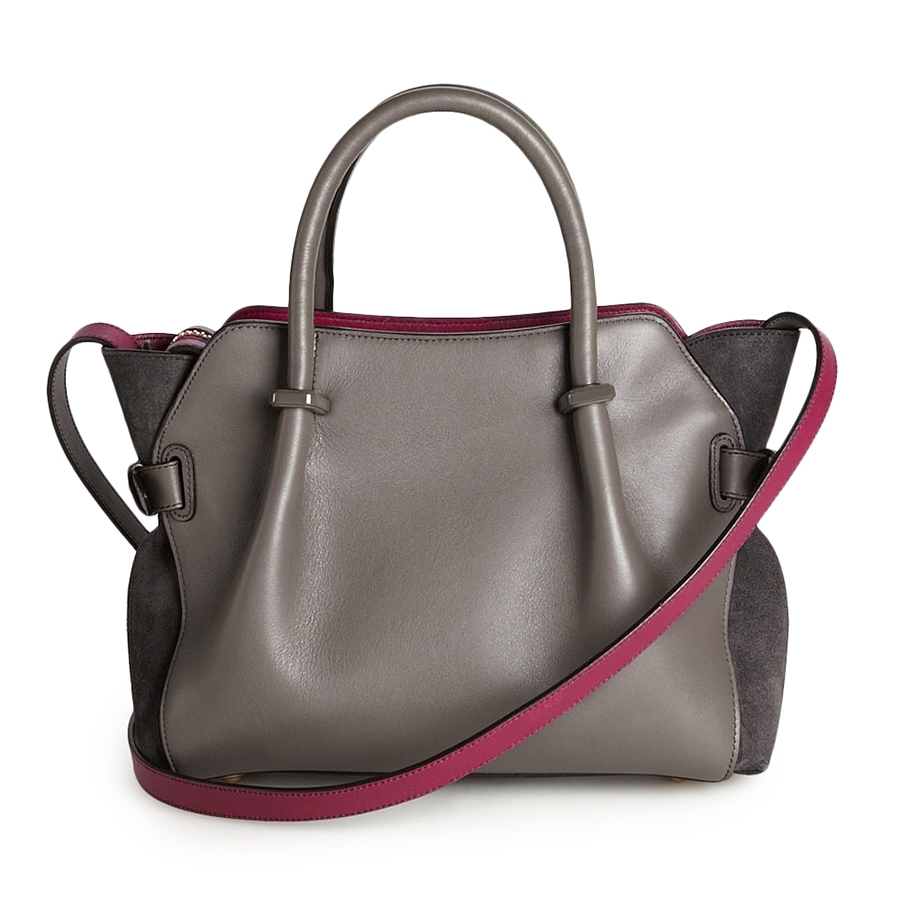 Nina Ricci March 227 169 Small Leather Tote In Gray Lyst