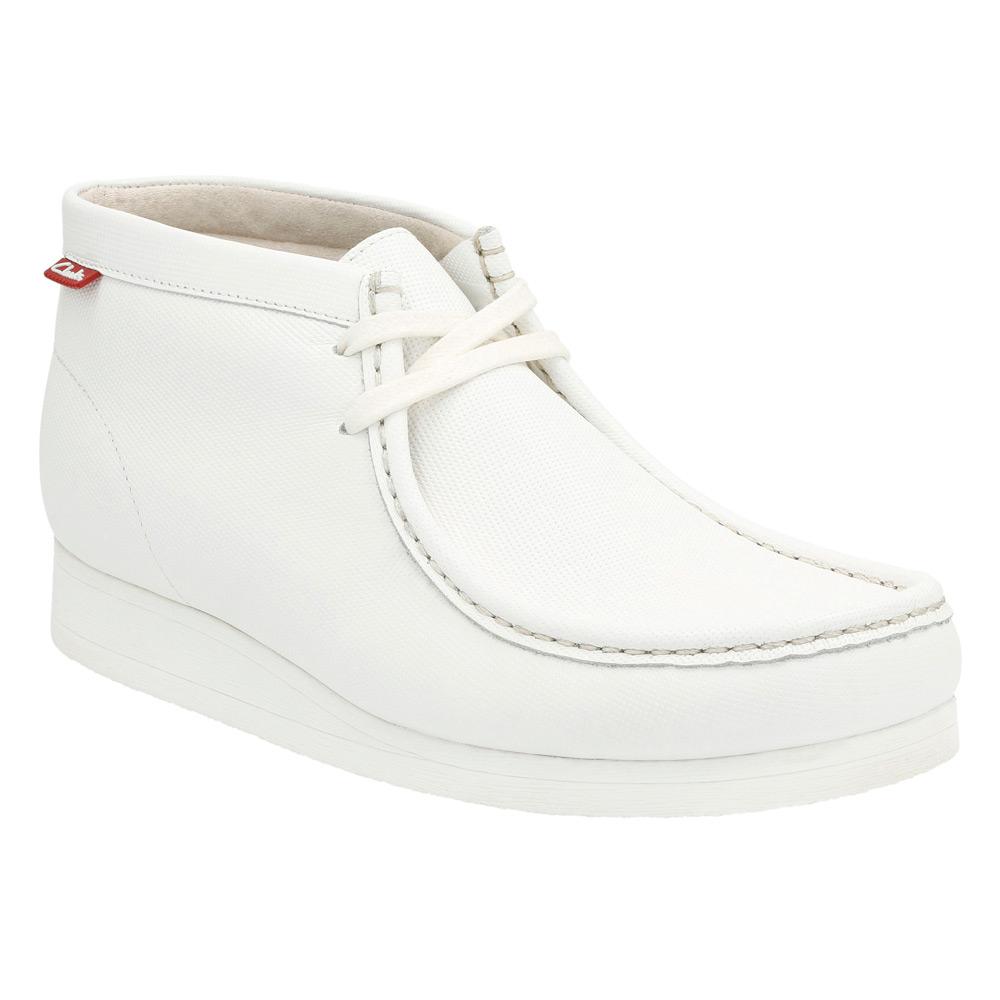 e6436fd80362 Lyst clarks stinson hi in white for men jpg 1000x1000 White leather clarks