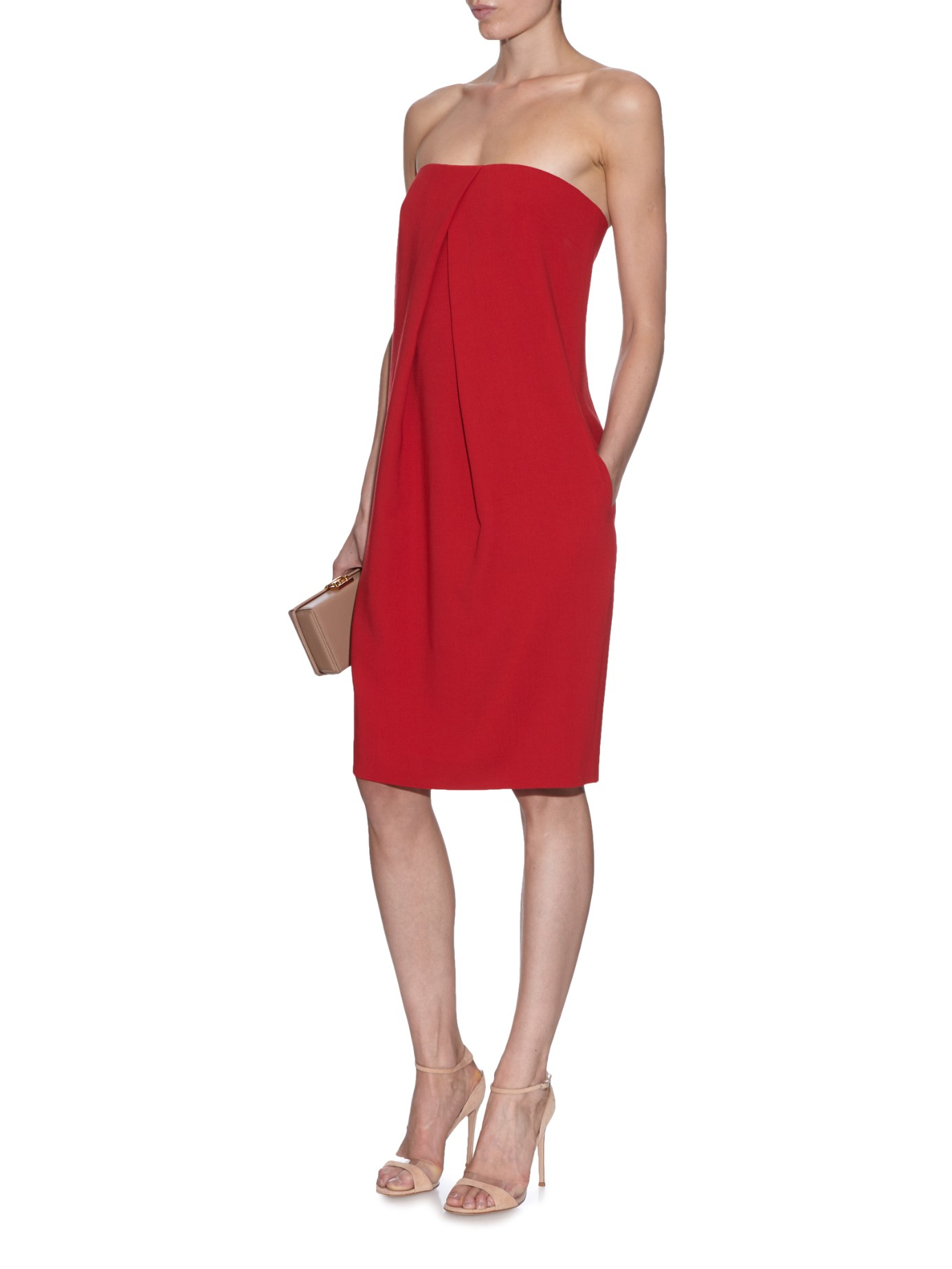 f46eb3ff7ec Lyst - Max Mara Berger Dress in Red