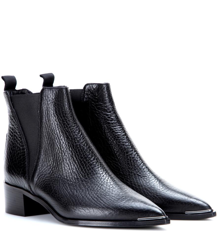 acne jensen leather ankle boots in black lyst. Black Bedroom Furniture Sets. Home Design Ideas