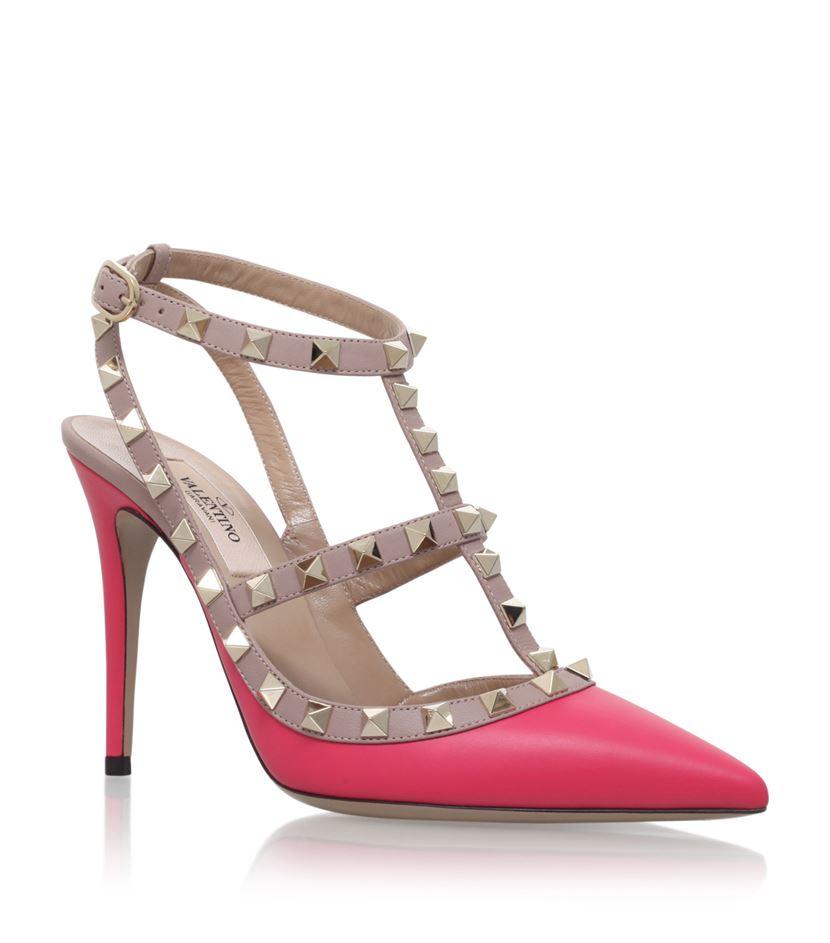 valentino rockstud pumps 100 in pink lyst. Black Bedroom Furniture Sets. Home Design Ideas