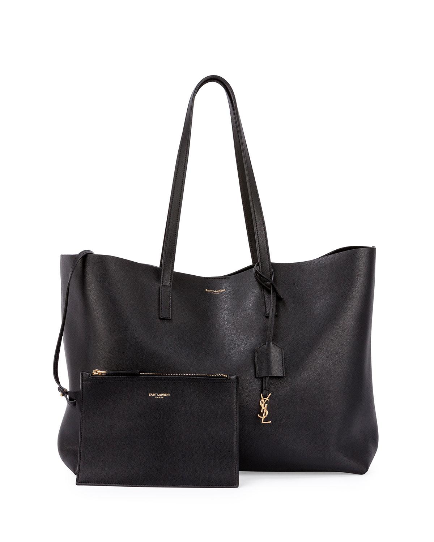 saint laurent large shopping tote bag in black for men lyst. Black Bedroom Furniture Sets. Home Design Ideas