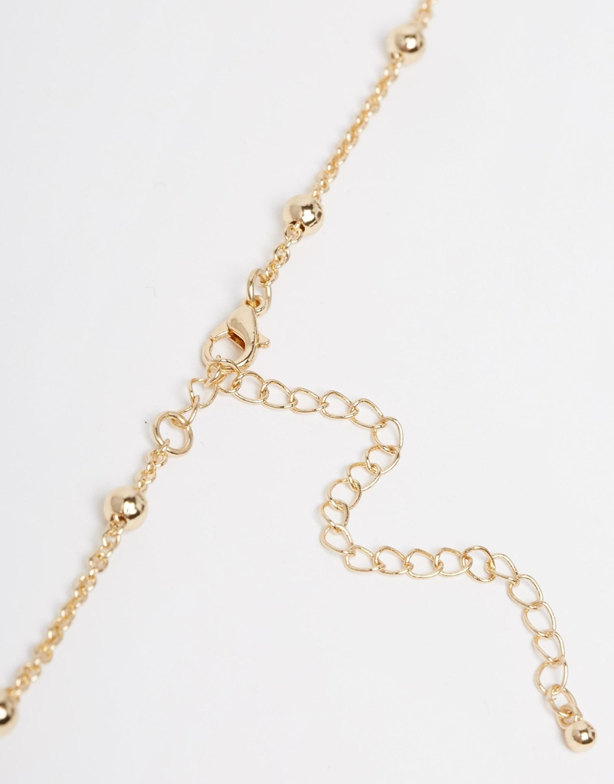 asos dot dash choker necklace in metallic lyst