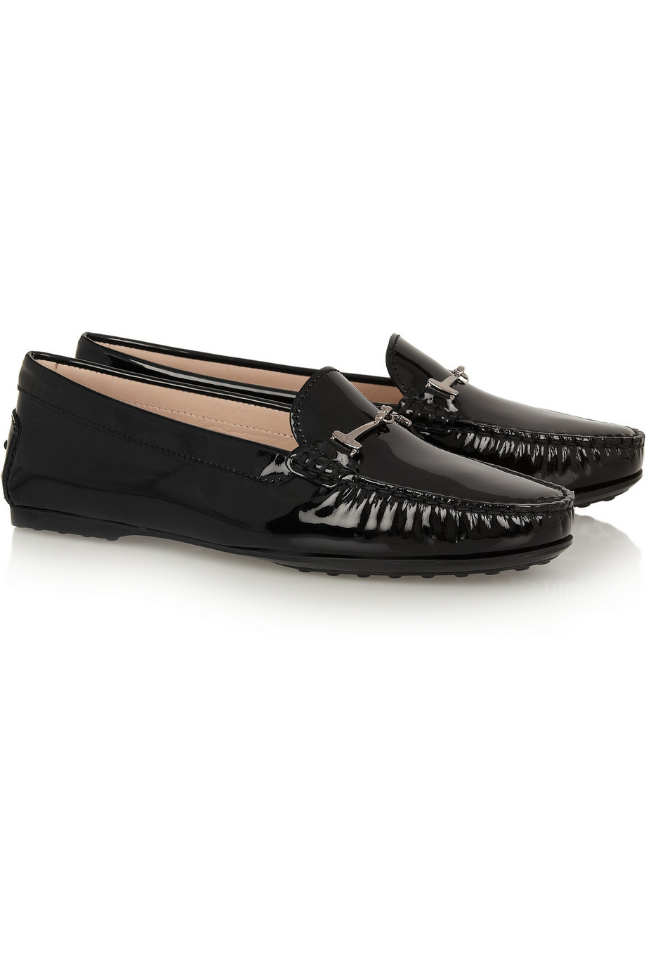 Gommino Embellished Leather Loafers - Black Tod's Professional ly9HnEH