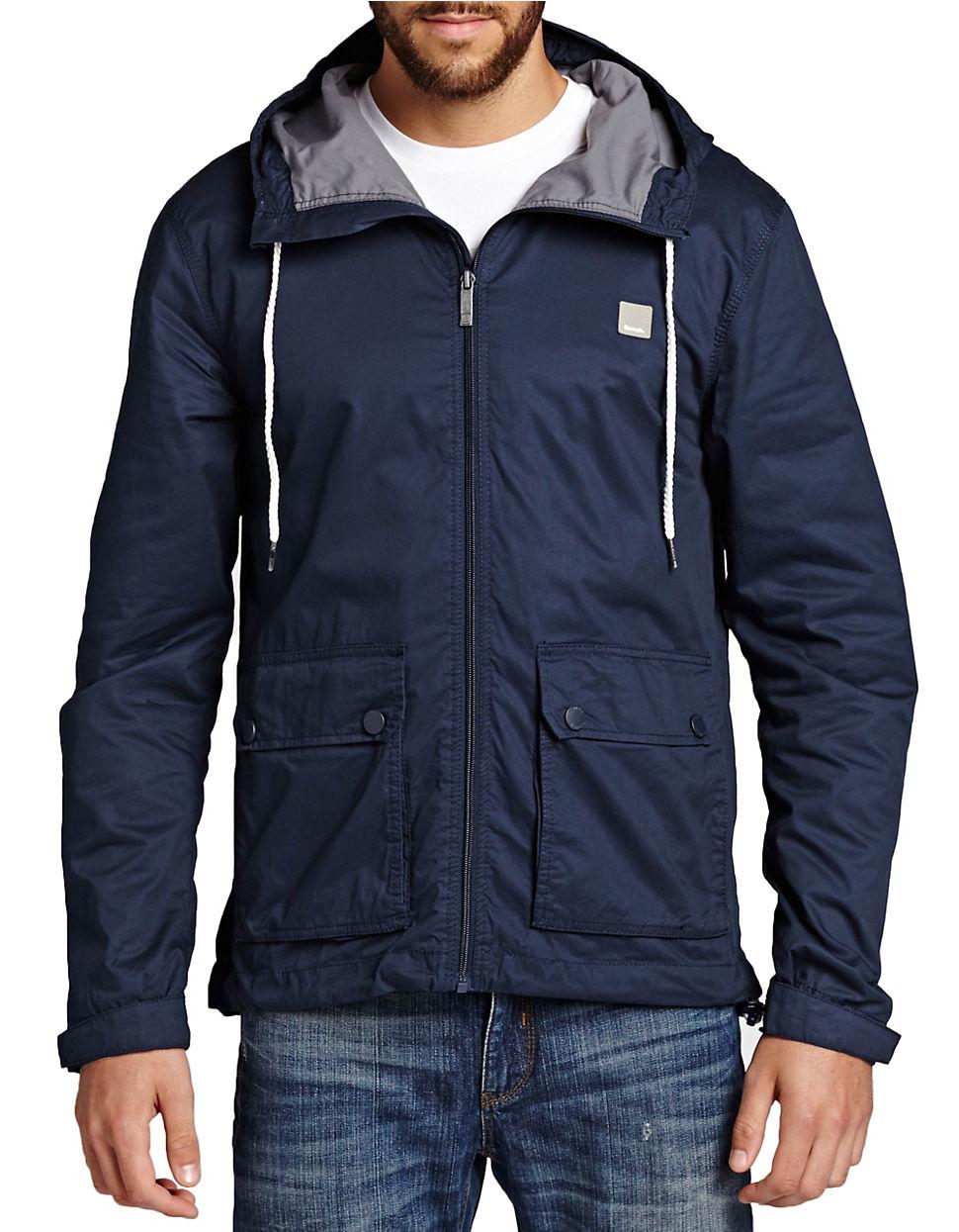 Bench Eradiate Jacket In Blue For Men Lyst