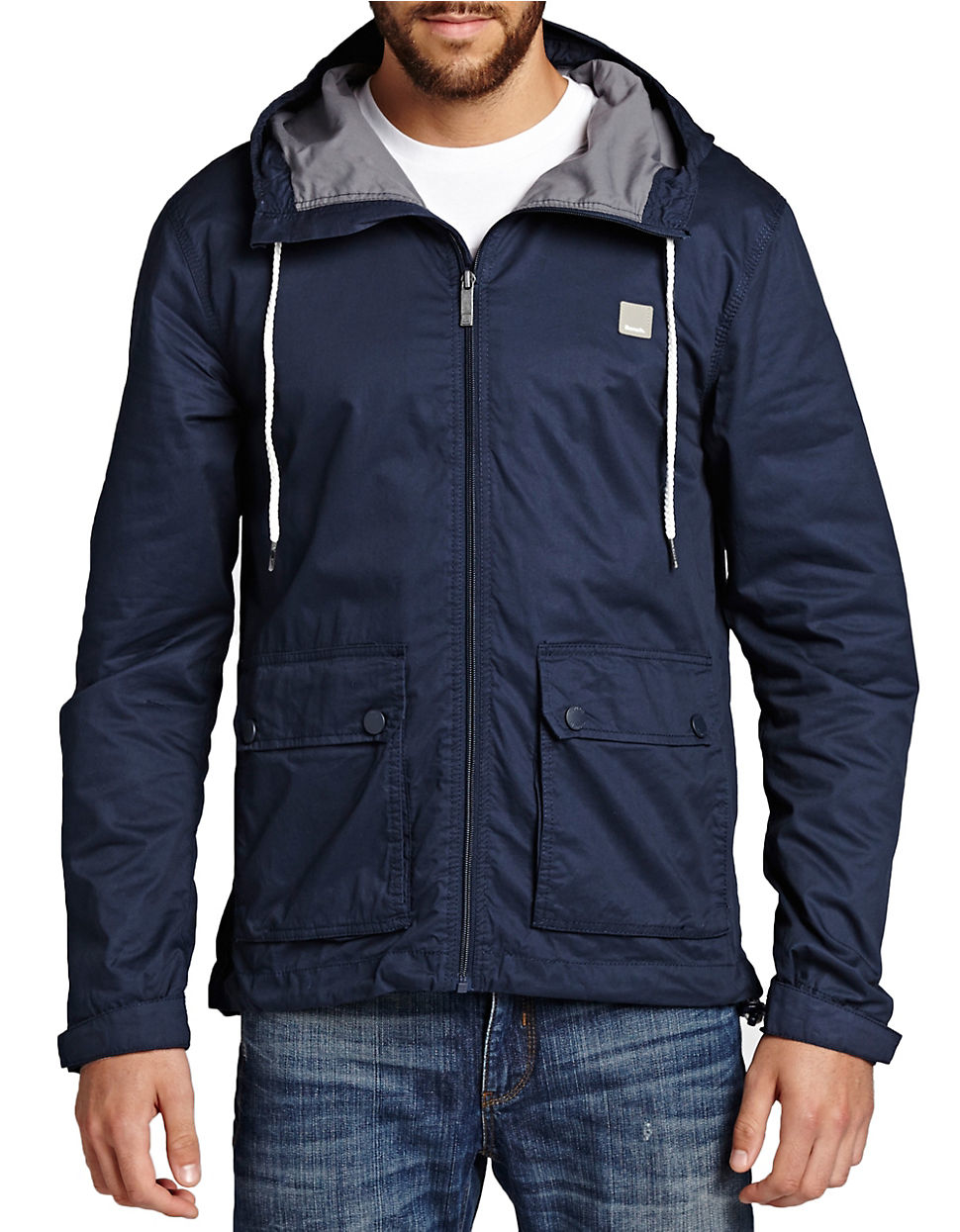 bench eradiate jacket in blue for lyst
