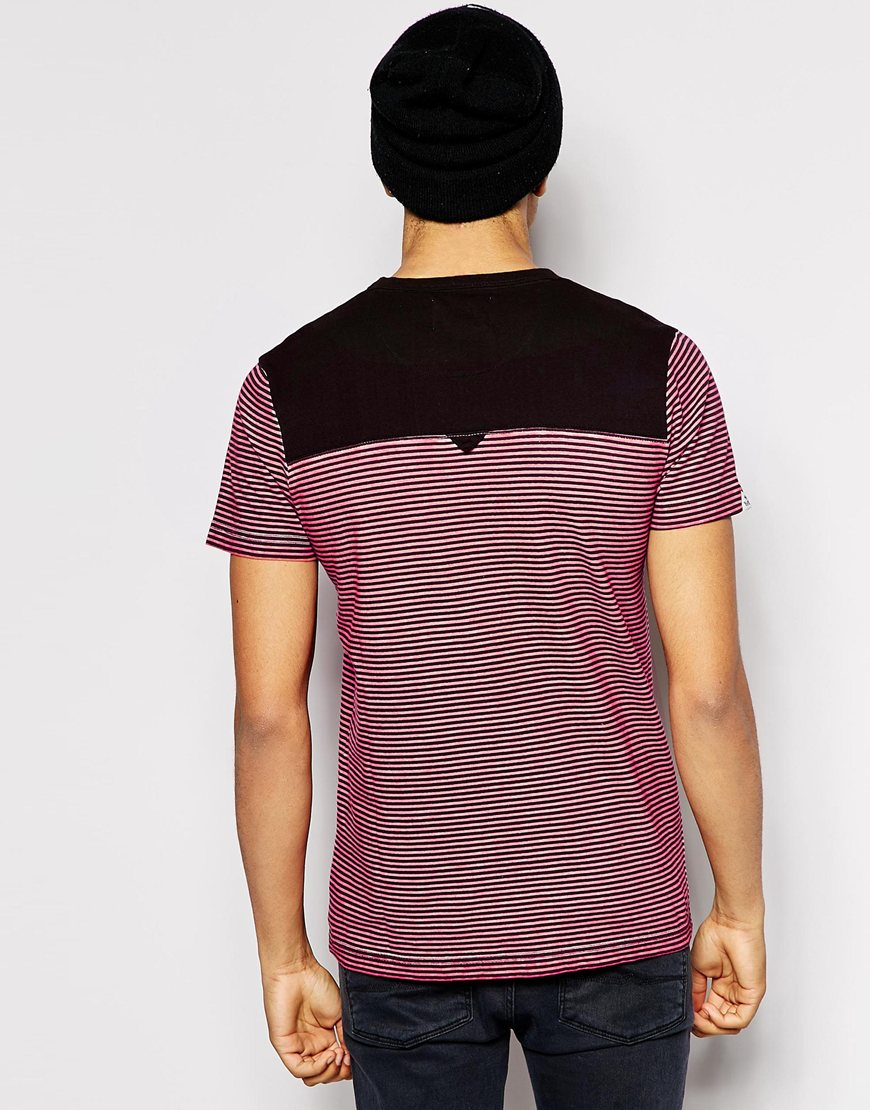 lyst bellfield breton stripe t shirt with contrast. Black Bedroom Furniture Sets. Home Design Ideas