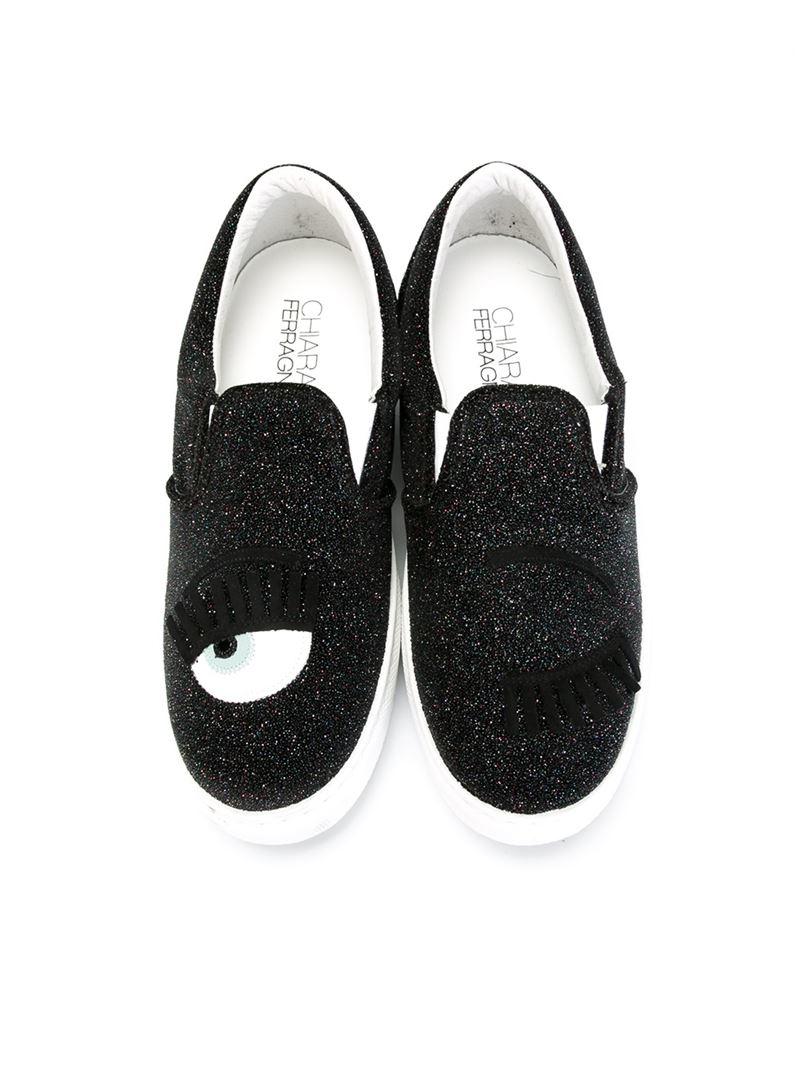Chiara Ferragni Embelli Slip-on Chaussures De Sport - Noir yUzOR