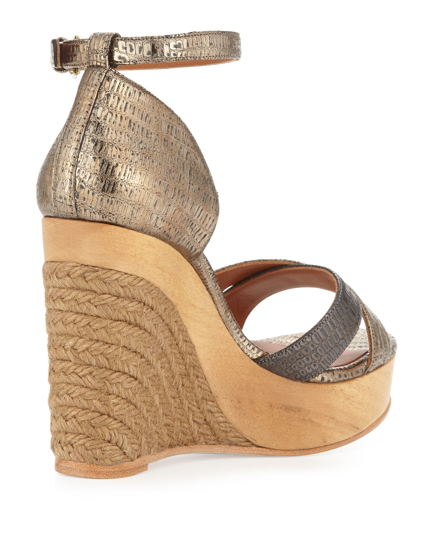 Lanvin Metallic Espadrille Wedges cheap fashion Style cheap best free shipping choice ALdNMKJUY