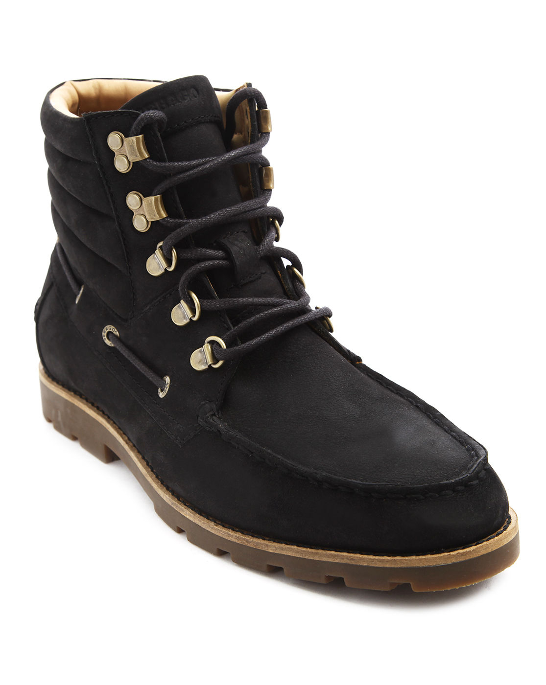 sebago hyde hiker mid black suede waterproof boots in