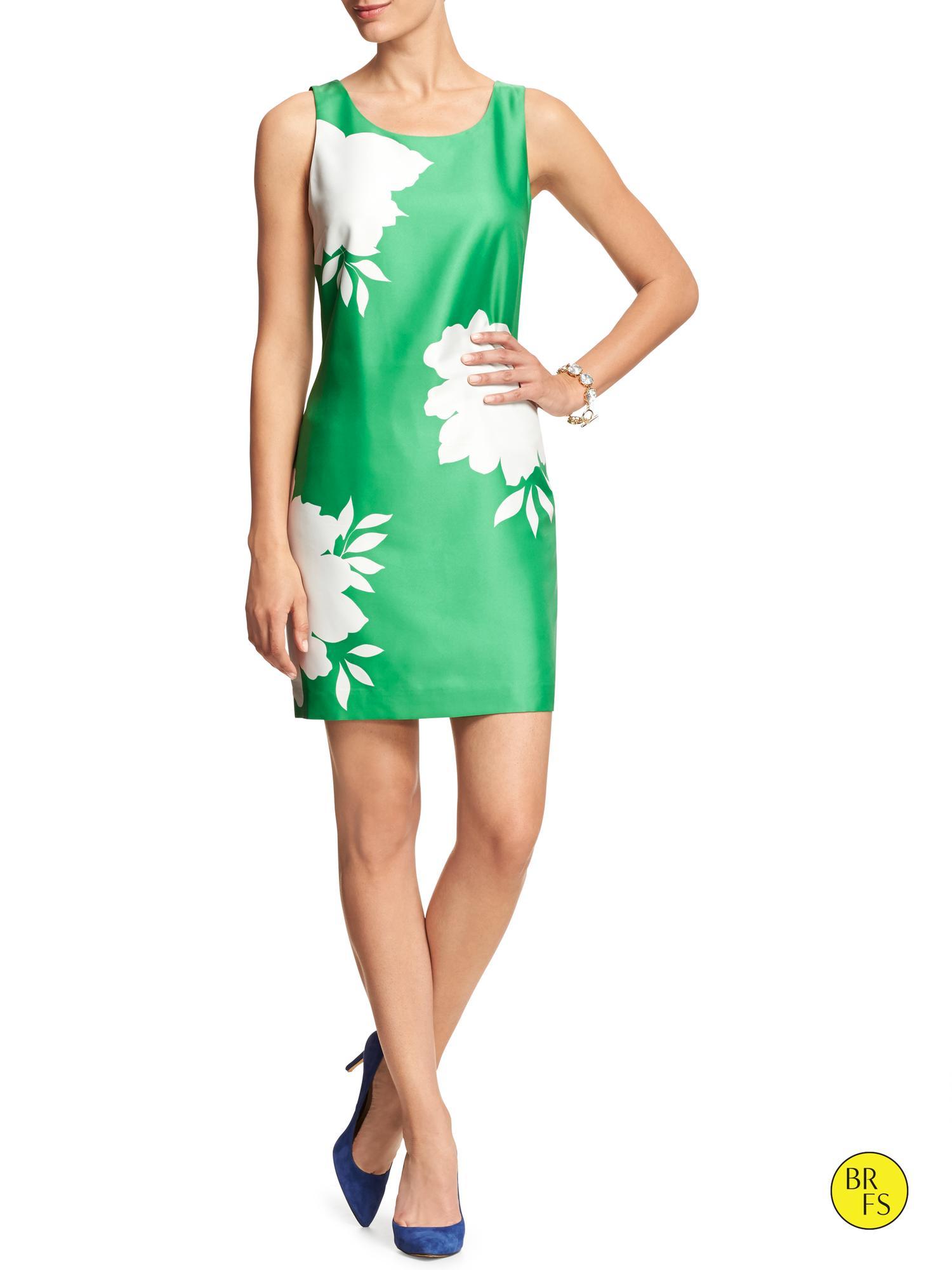 Banana Republic Factory Sleeveless Printed Dress Cool