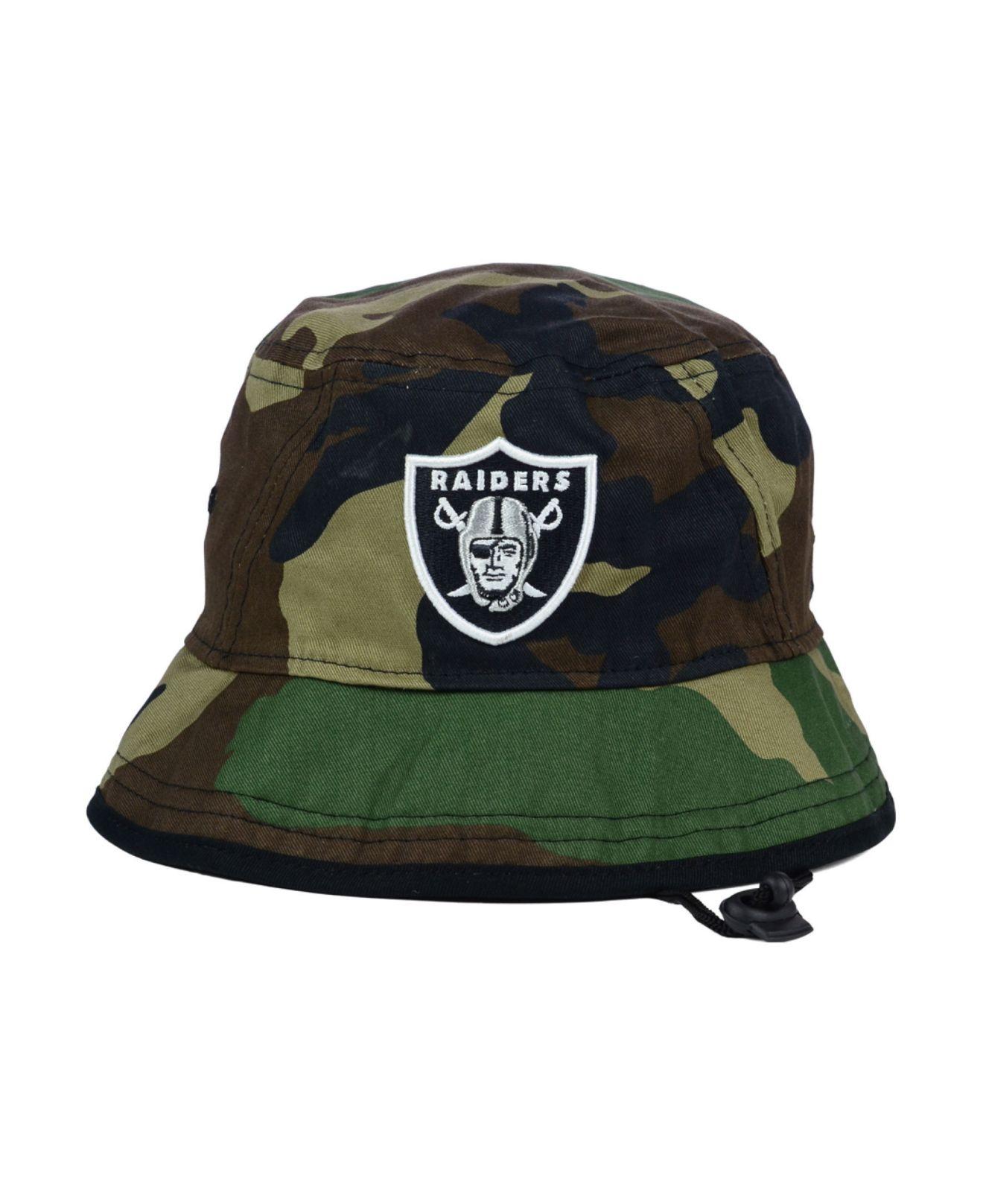 79f238839 ... france lyst ktz oakland raiders camo pop bucket hat in green for men  92db7 3e7f0