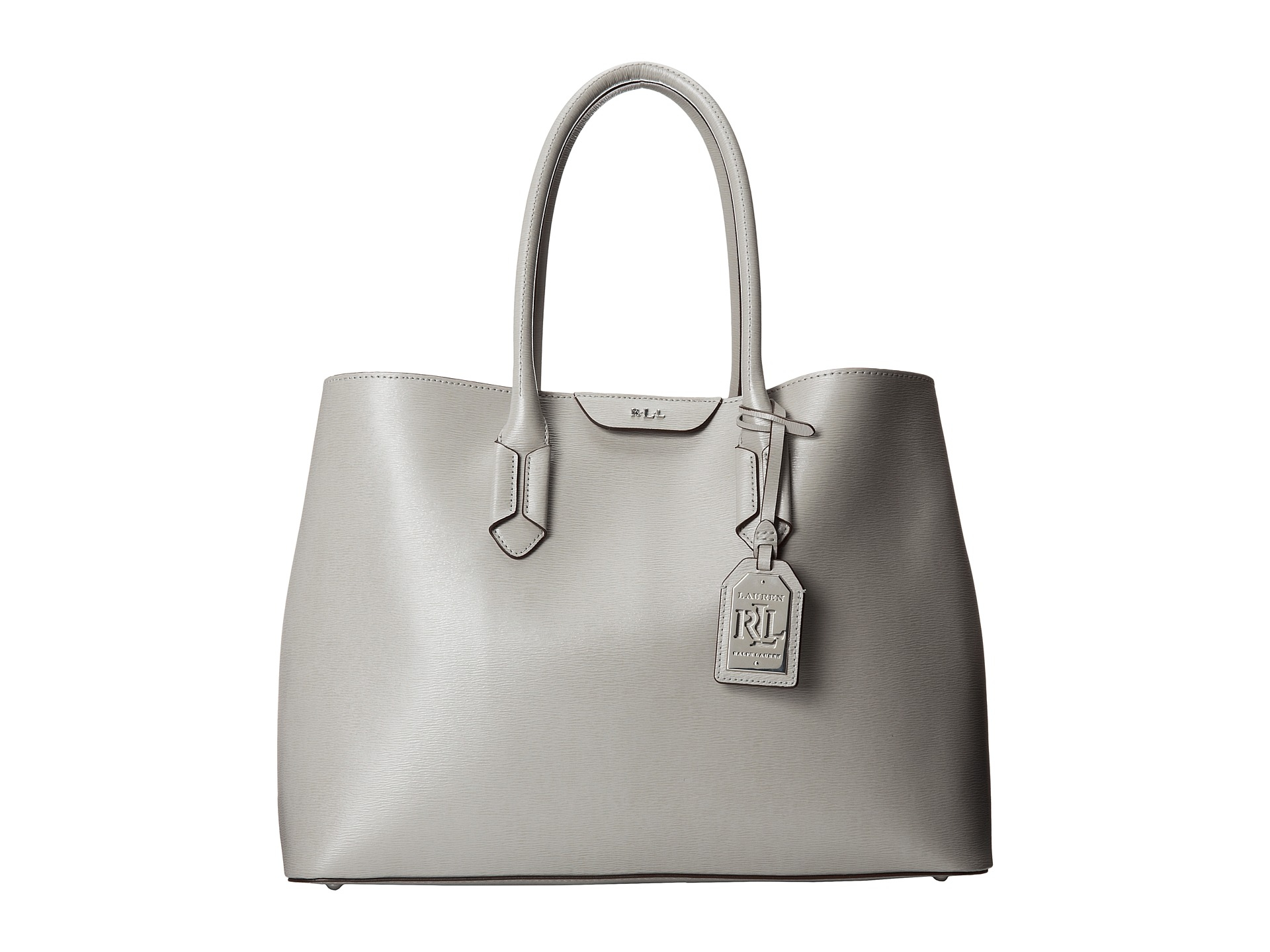 42c838a9e22a Lyst - Lauren by Ralph Lauren Tate City Tote in Gray