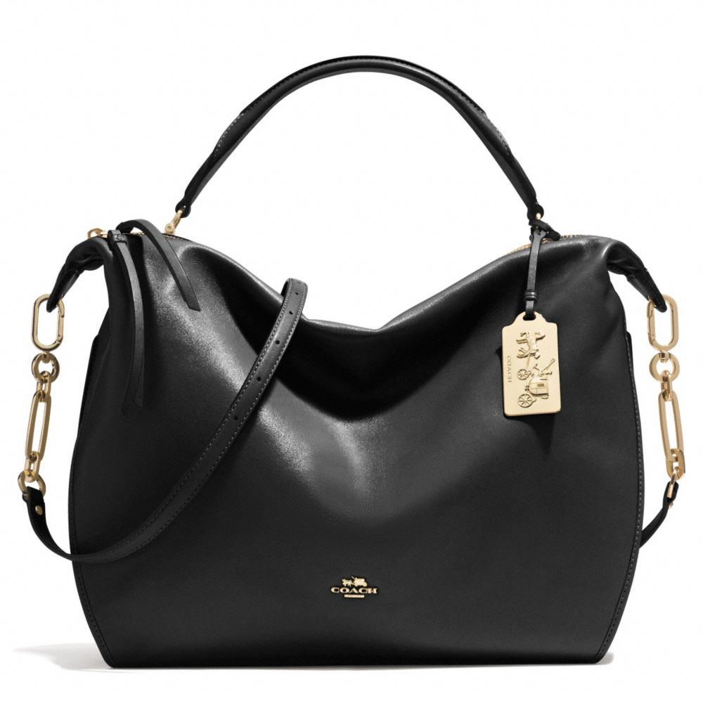 Lyst coach madison xl smythe satchel in leather in black for Smythe designer