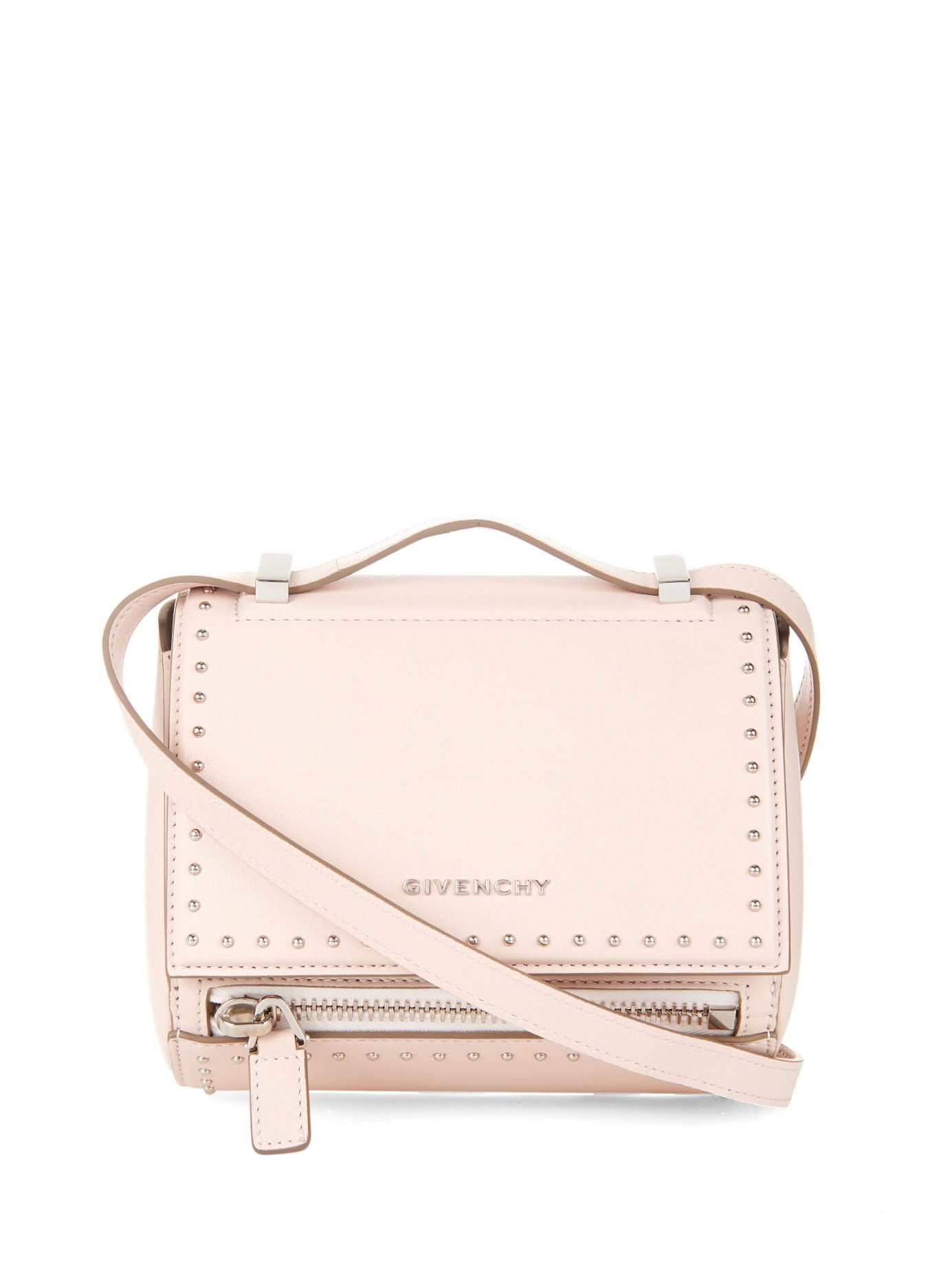 Lyst - Givenchy Pandora Box Mini Leather Bag in Natural 775f8f9e930aa
