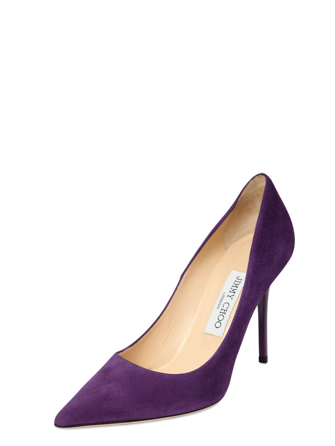 0625f332927f ... where can i buy lyst jimmy choo 100mm abel suede pumps in purple df5ed  84790